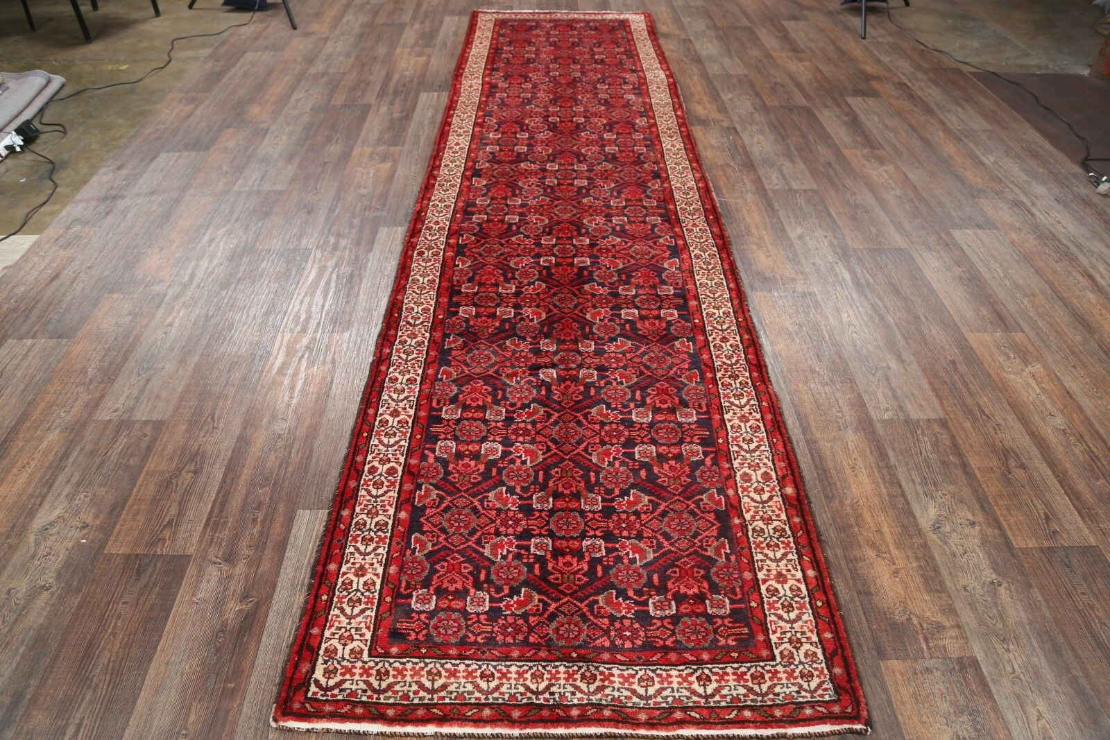 One-of-a-Kind Hamadan Persian Hand-Knotted 3'7