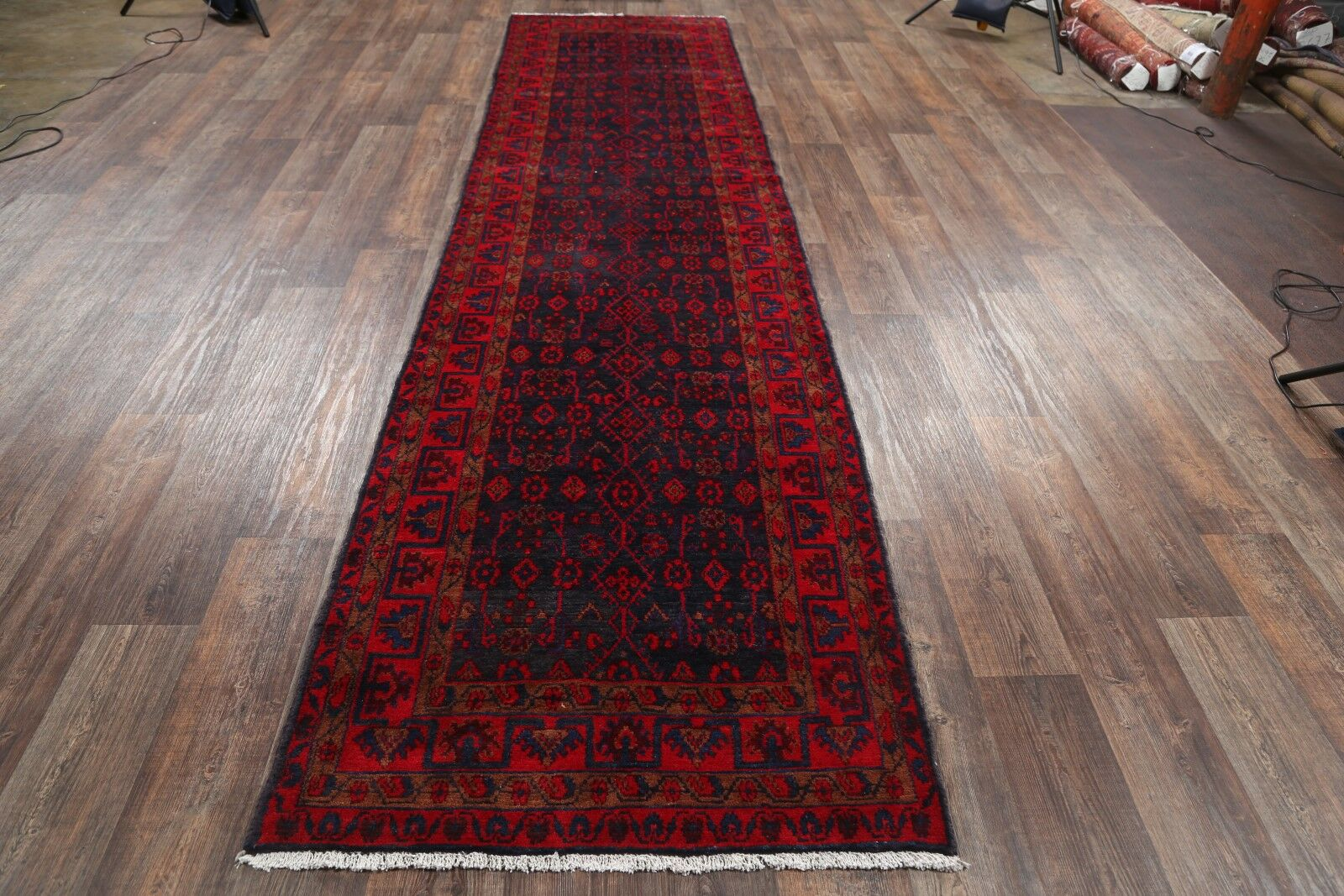 One-of-a-Kind Hamadan Persian x Hand-Knotted 3'7