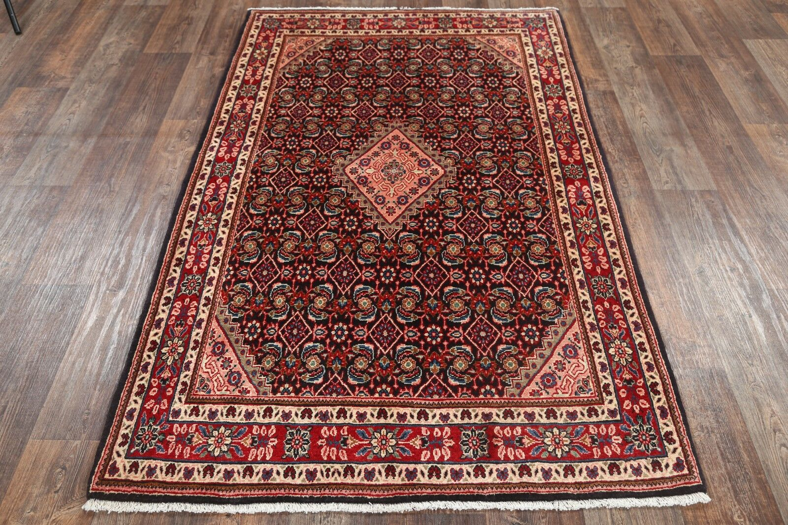 One-of-a-Kind Sarouk Persian Hand-Knotted 4'4