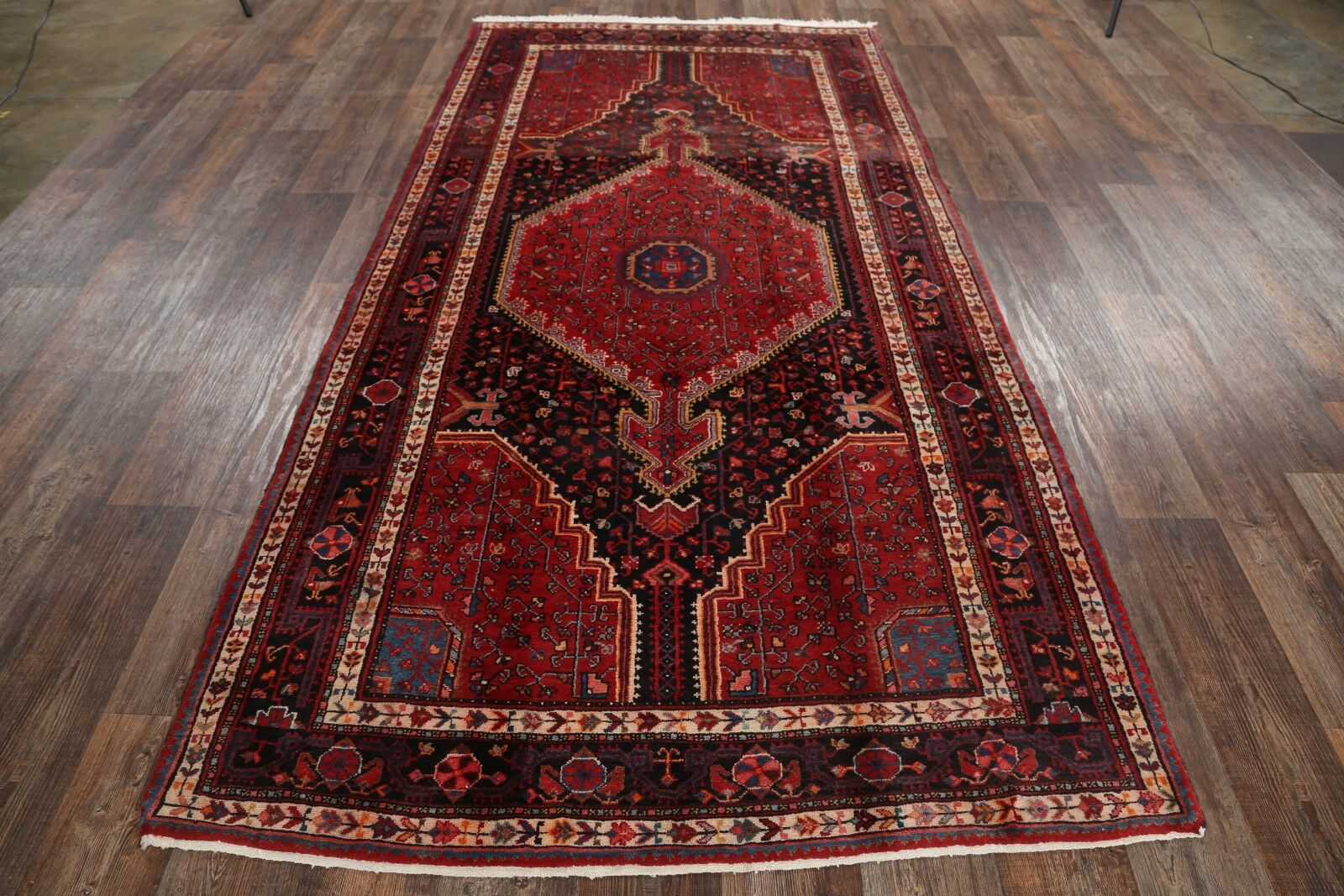 One-of-a-Kind Hamadan Traditional Persian Hand-Knotted 5'3