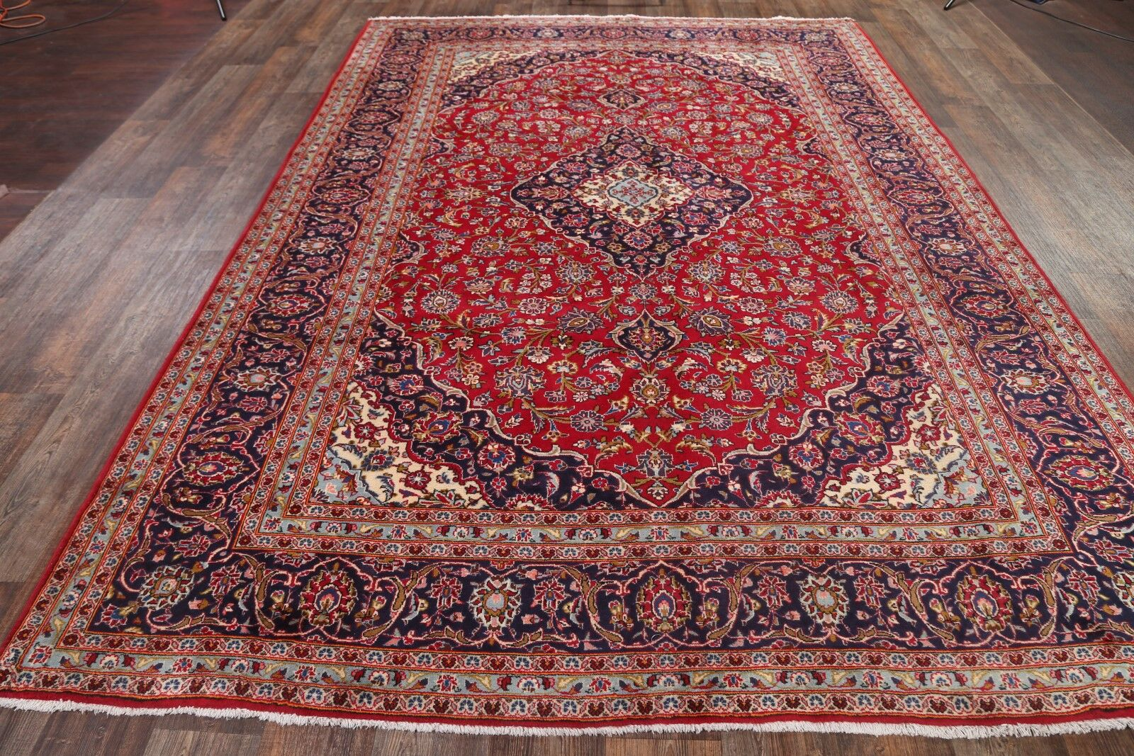 One-of-a-Kind Kashan Persian Oriental Hand-Knotted 8'3