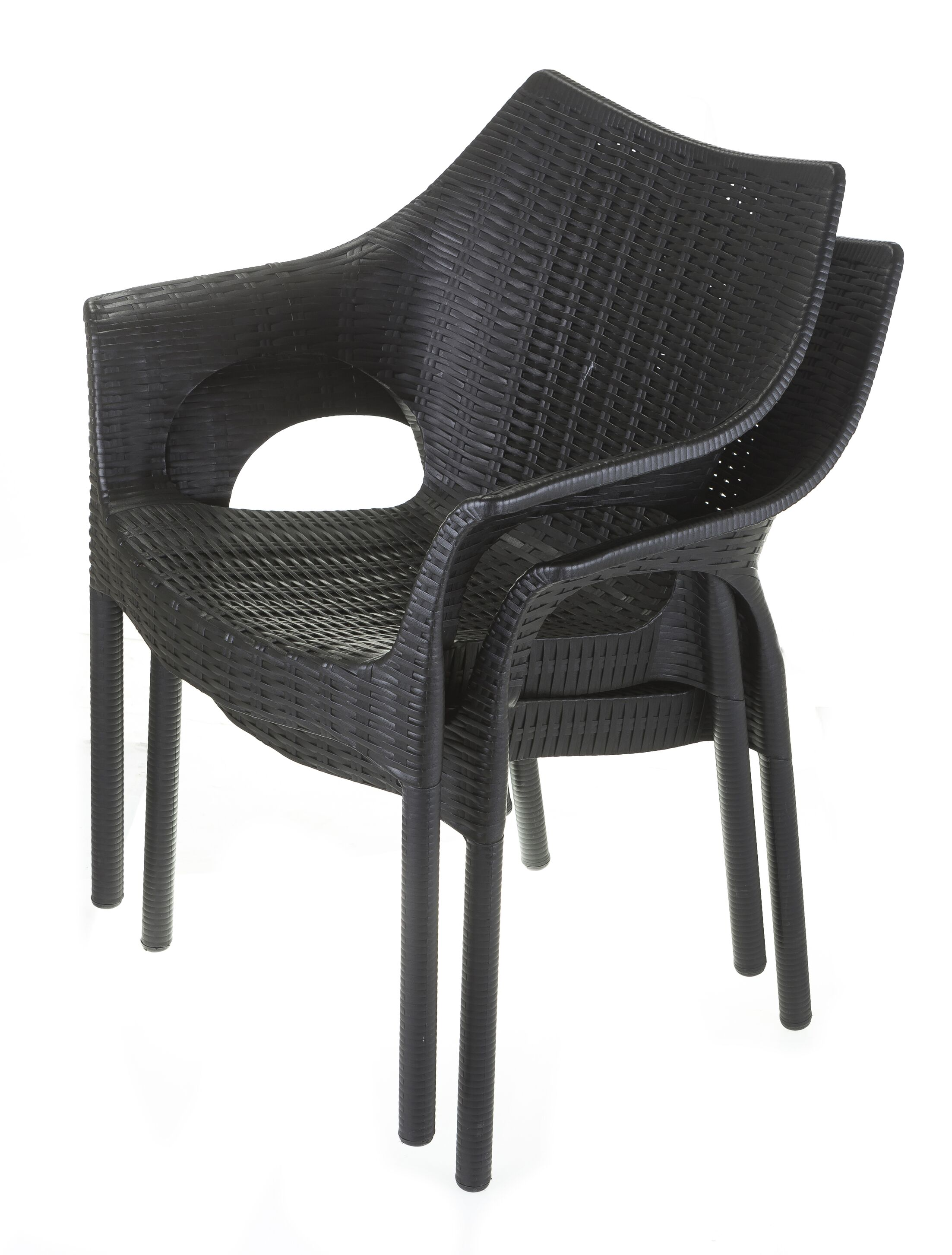Whitaker Commercial Grade 5 Piece Dining Chair Set Color: Black