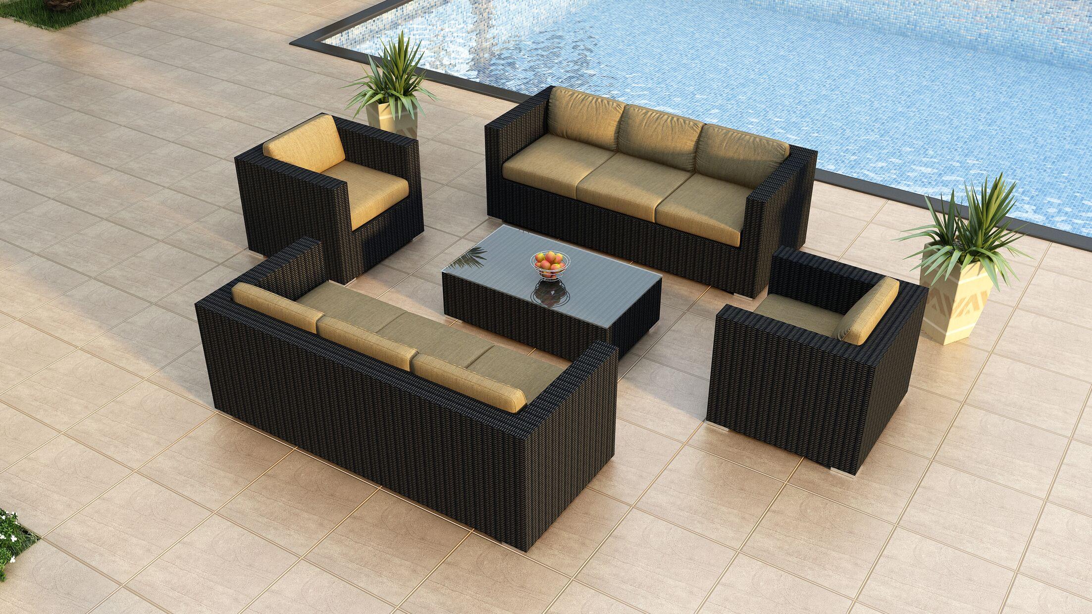 Urbana 5 Piece Double Sofa Set with Cushions Fabric: Beige