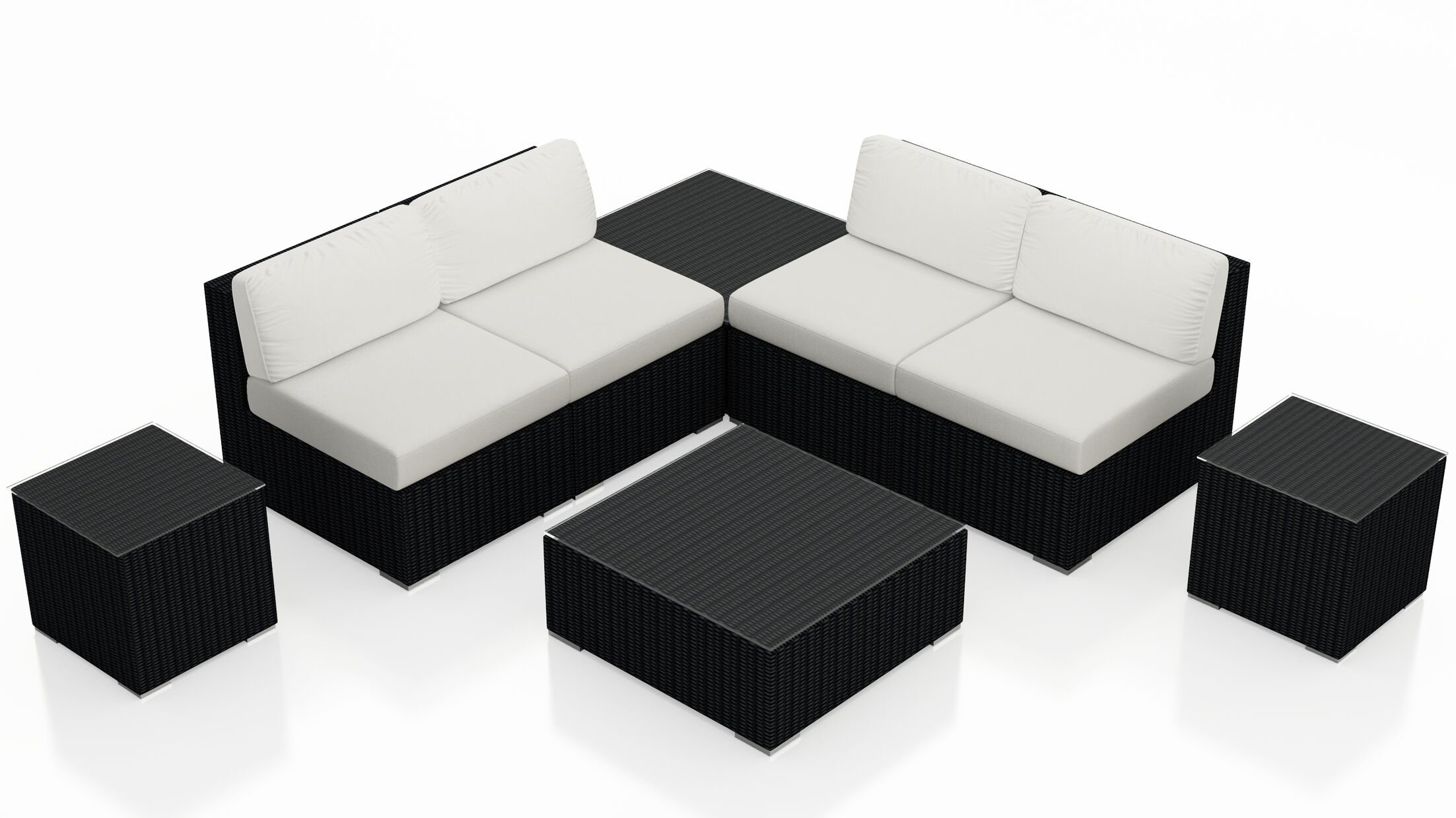 Urbana 8 Piece Sectional Set with Cushions Fabric: Natural