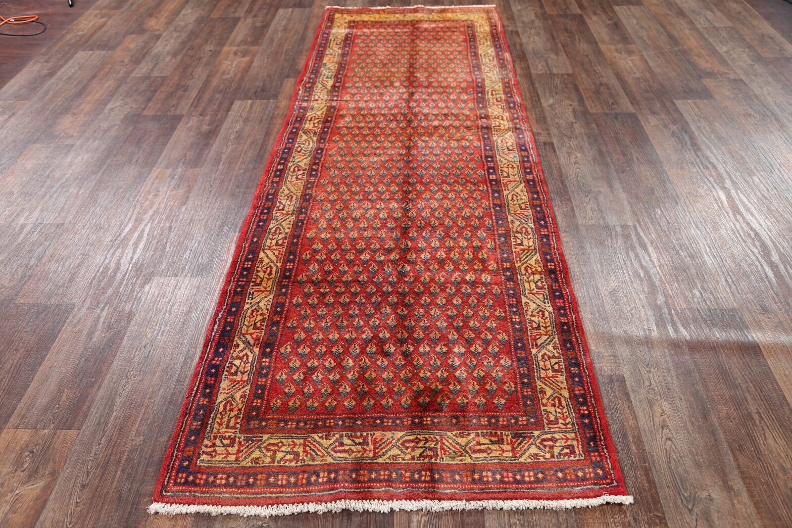 One-of-a-Kind Classical Botemir Boteh Persian Hand-Knotted 3'6