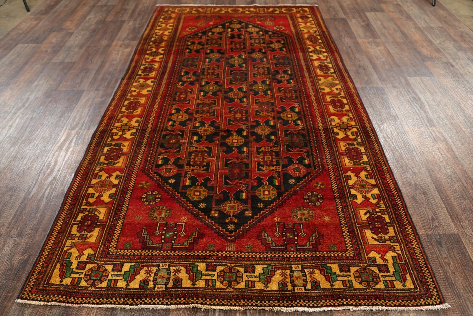 One-of-a-Kind Traditional Zanjan Persian Hand-Knotted 5'3