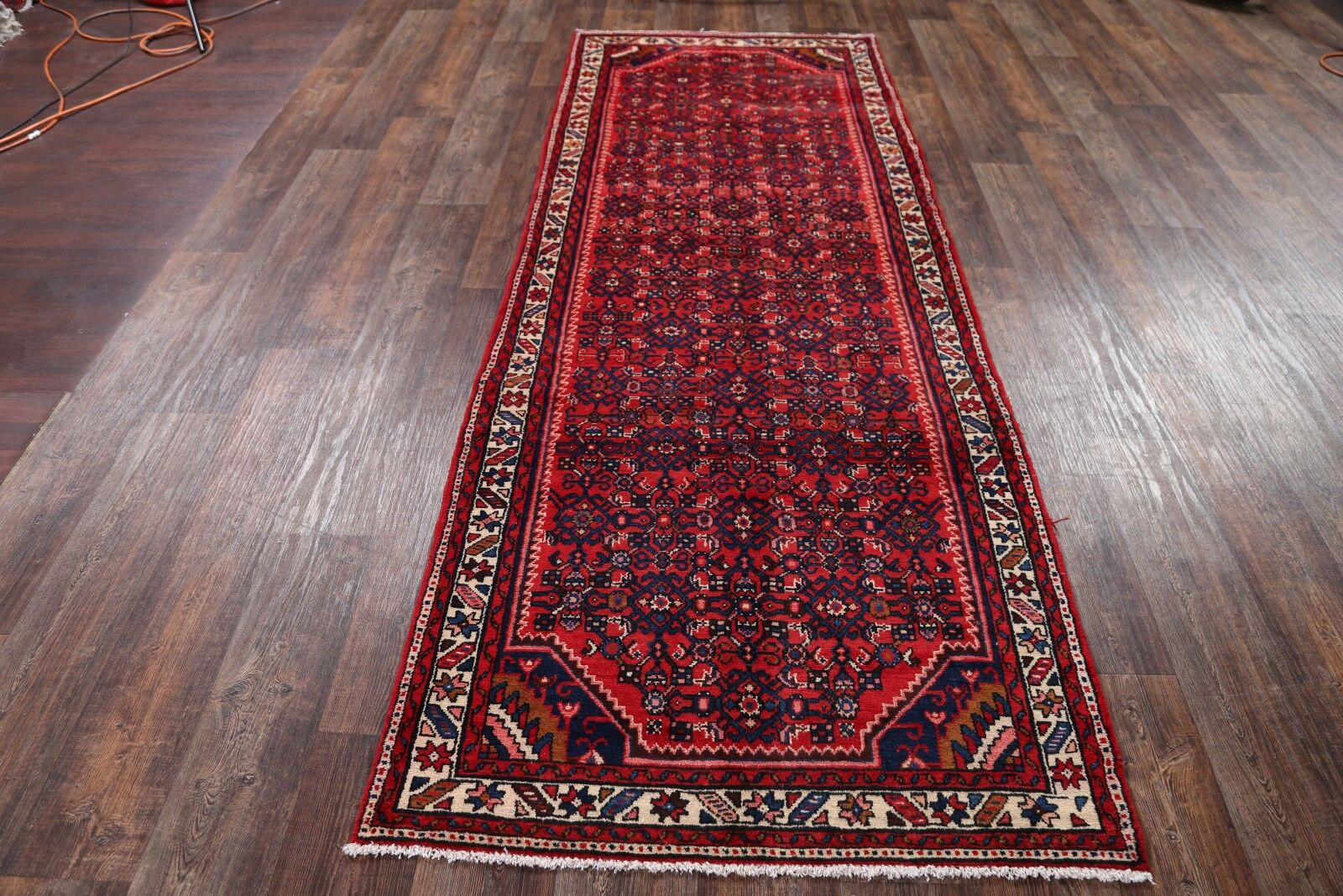 One-of-a-Kind Classical Hamedan Persian Hand-Knotted 3'9