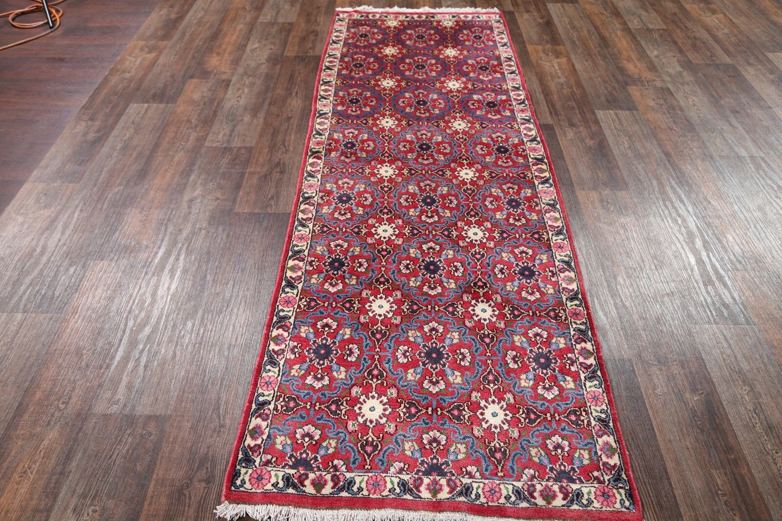 One-of-a-Kind Traditional Varamin Persian Hand-Knotted 3'1
