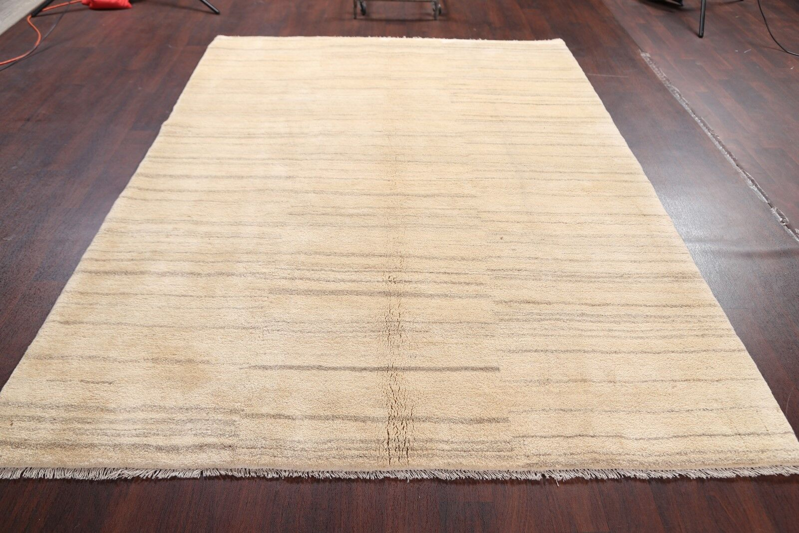 One-of-a-Kind Classical Qashqai Shiraz Persian Traditional Gabbeh Hand-Knotted 6'7