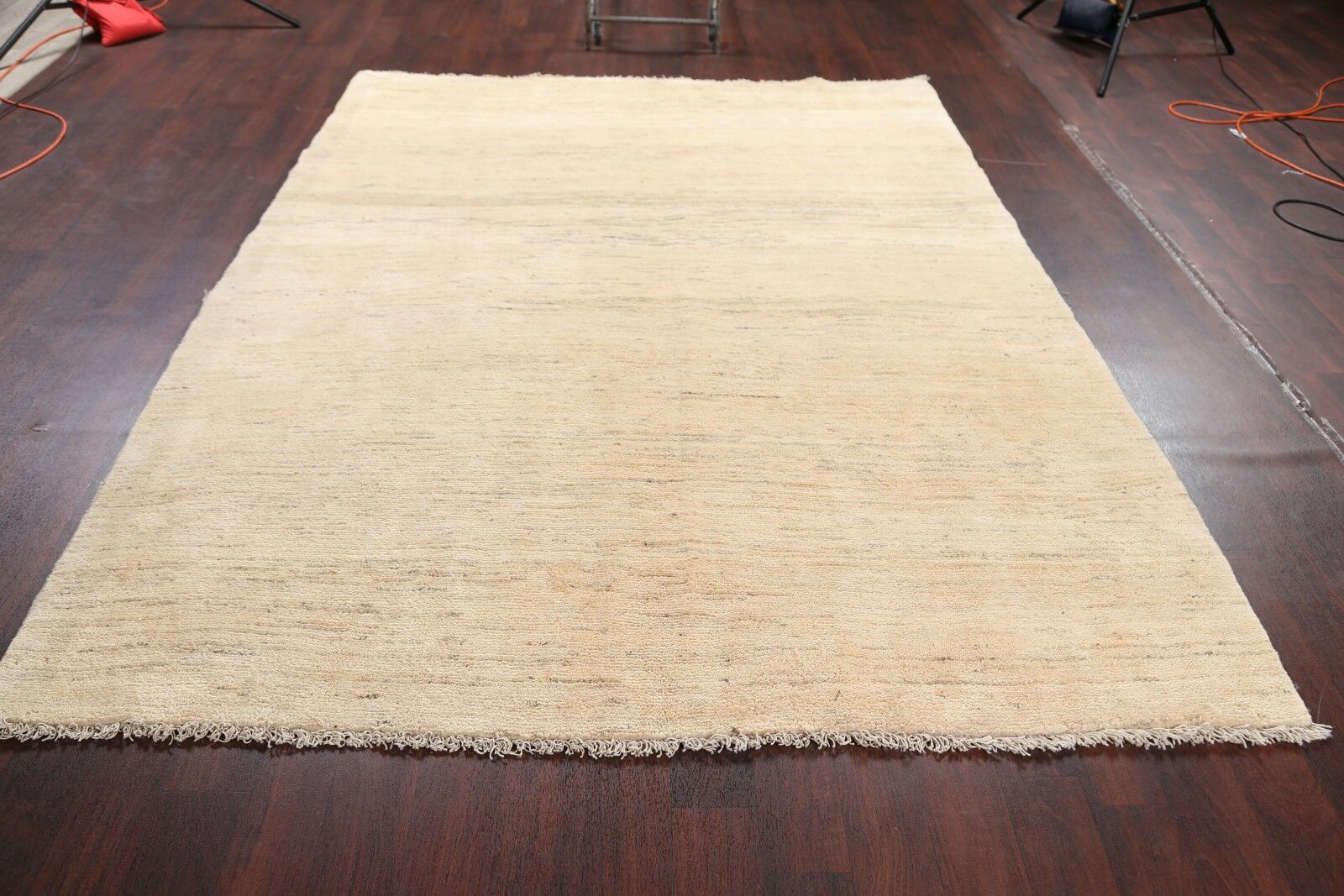 One-of-a-Kind Classical Shiraz Persian Traditional Gabbeh Hand-Knotted 7'1