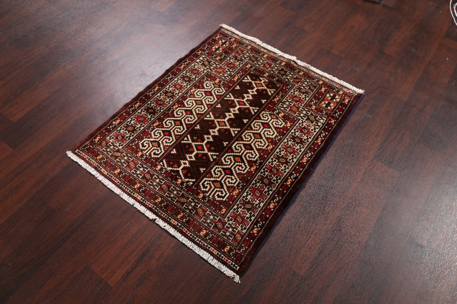 One-of-a-Kind Peppers Traditional Balouch Persian Hand-Knotted 2'9