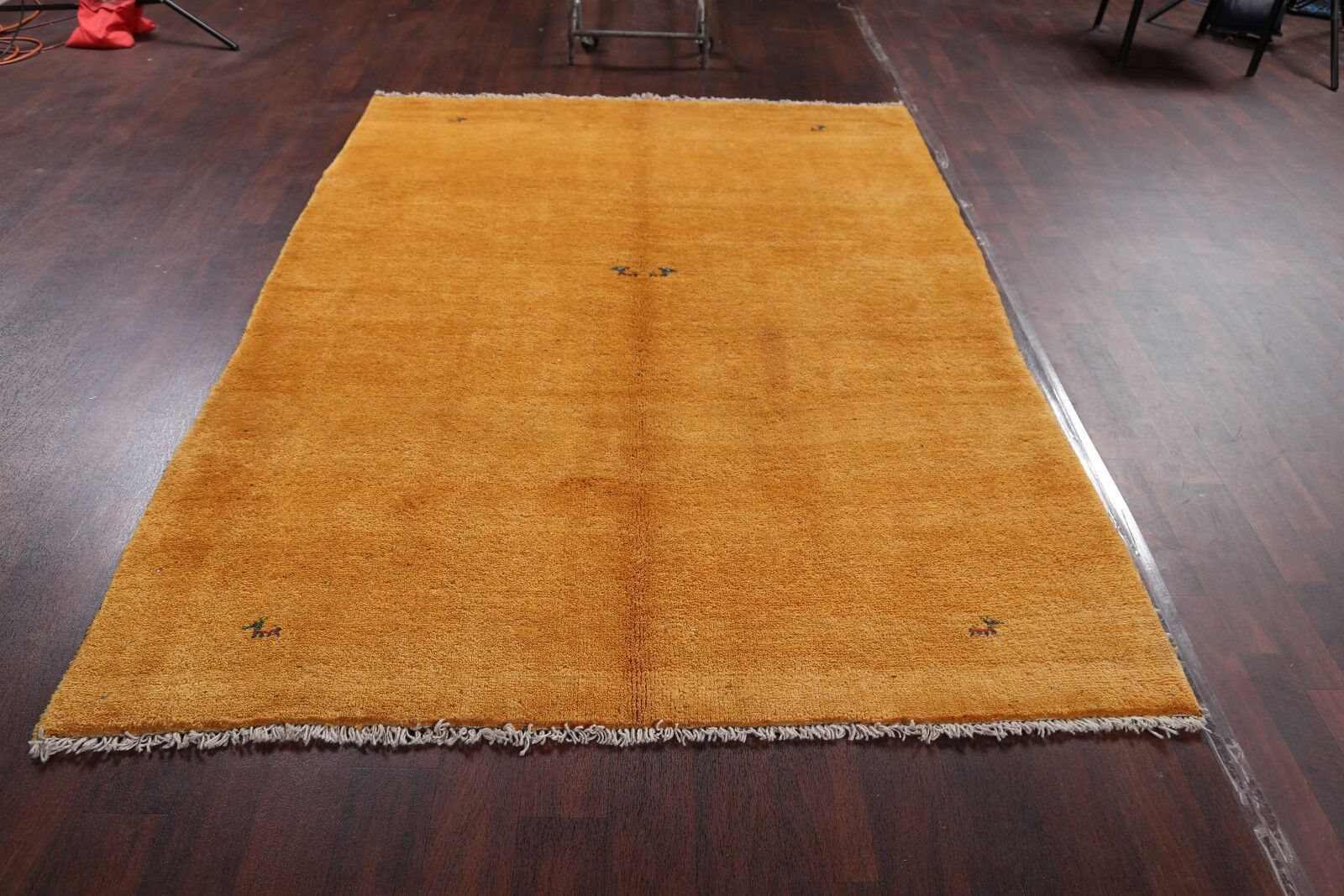 One-of-a-Kind Traditional Shiraz Persian Oriental Gabbeh Hand-Knotted 6' x 8'2