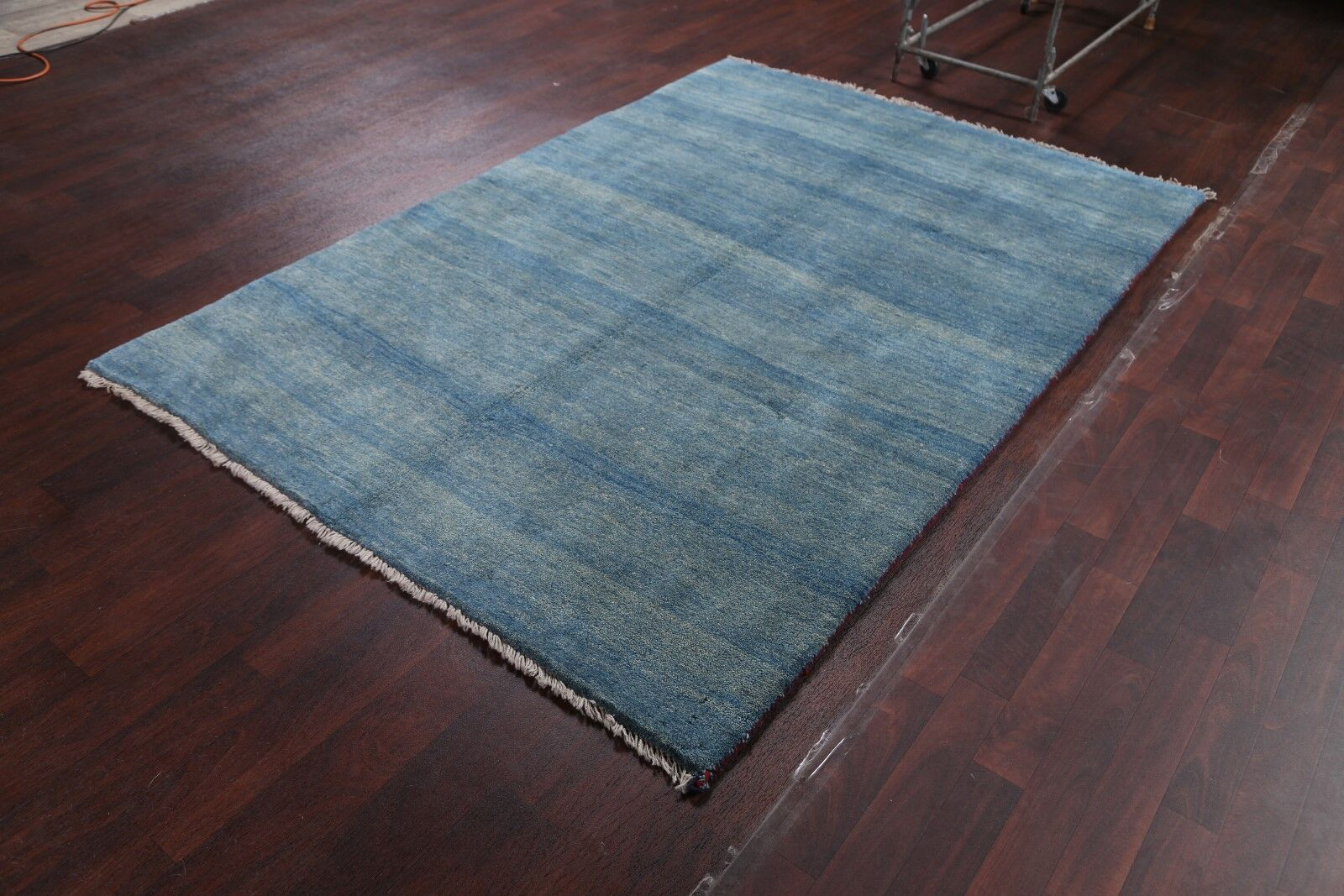 One-of-a-Kind Shiraz Persian Gabbeh Traditional Hand-Knotted 5'4