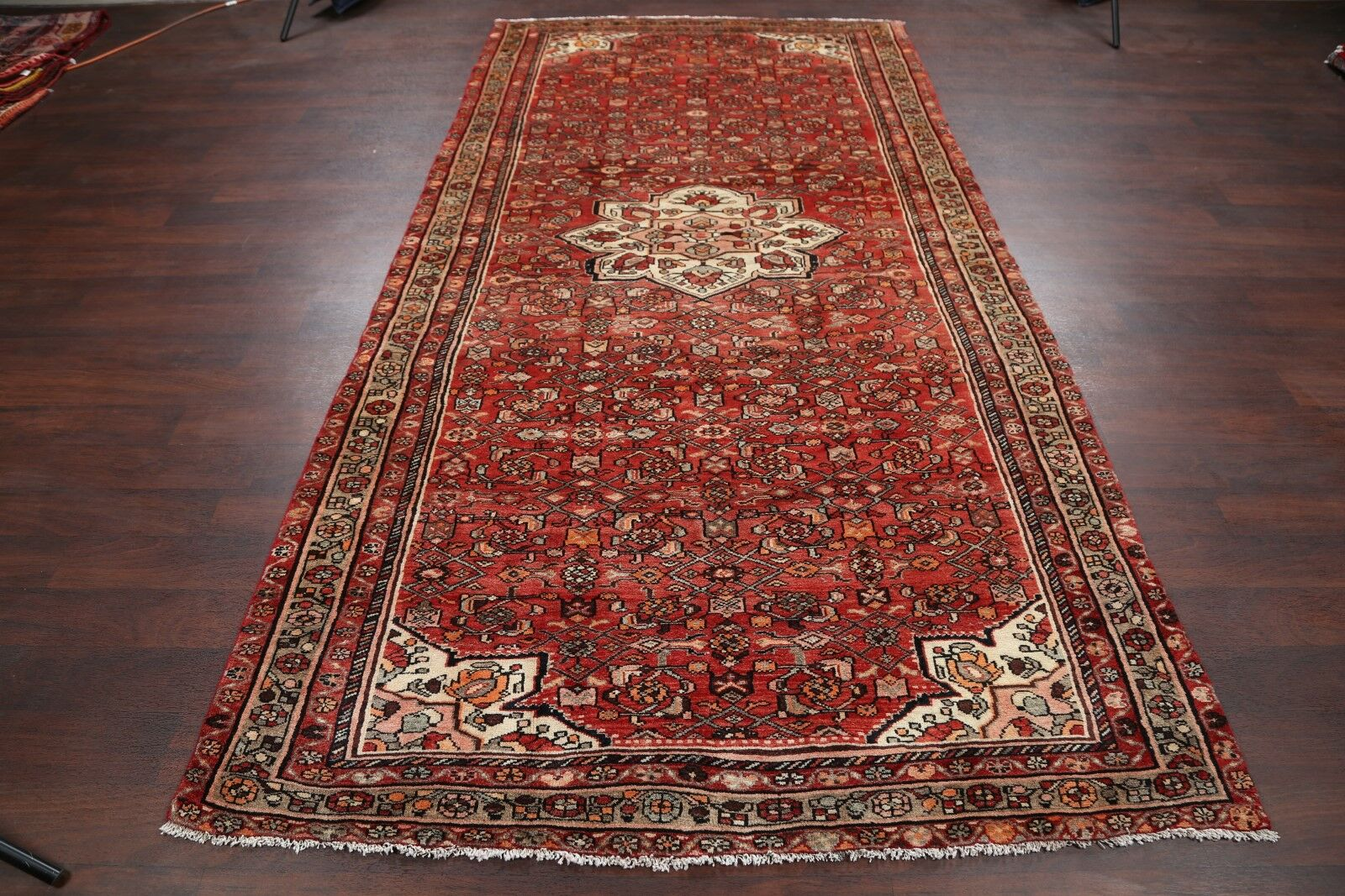 One-of-a-Kind Hamedan Persian Hand-Knotted 5'4