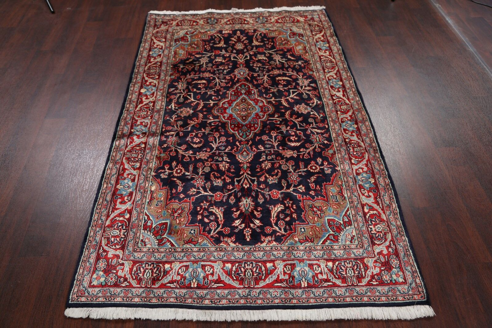 One-of-a-Kind Dunleavy Kashmar Persian Traditional Hand-Knotted 4'3