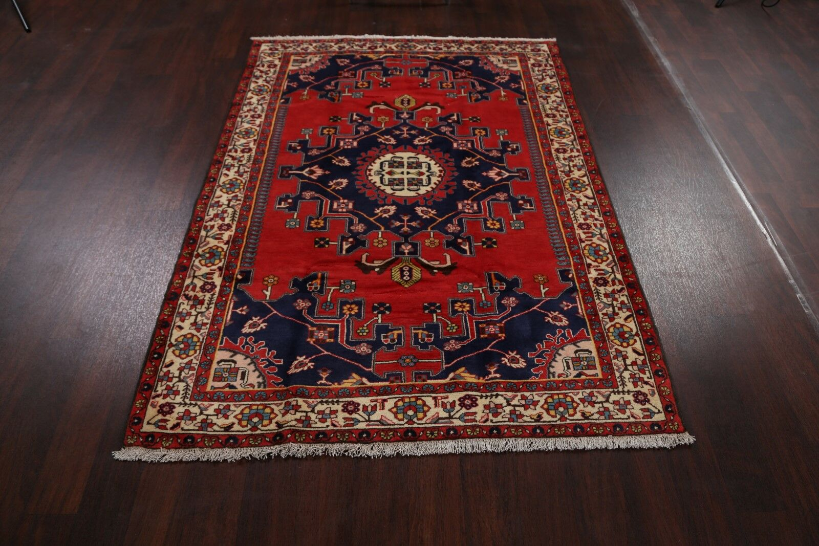 One-of-a-Kind Perrone Malayer Hamadan Vintage Persian Traditional Hand-Knotted 4'7