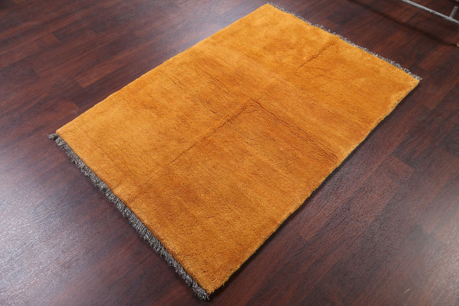 One-of-a-Kind Gabbeh Shiraz Persian Hand-Knotted 3'7