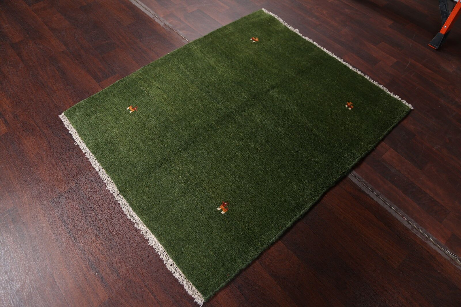 One-of-a-Kind Classical Shiraz Gabbeh Persian Traditional Hand-Knotted 3'10