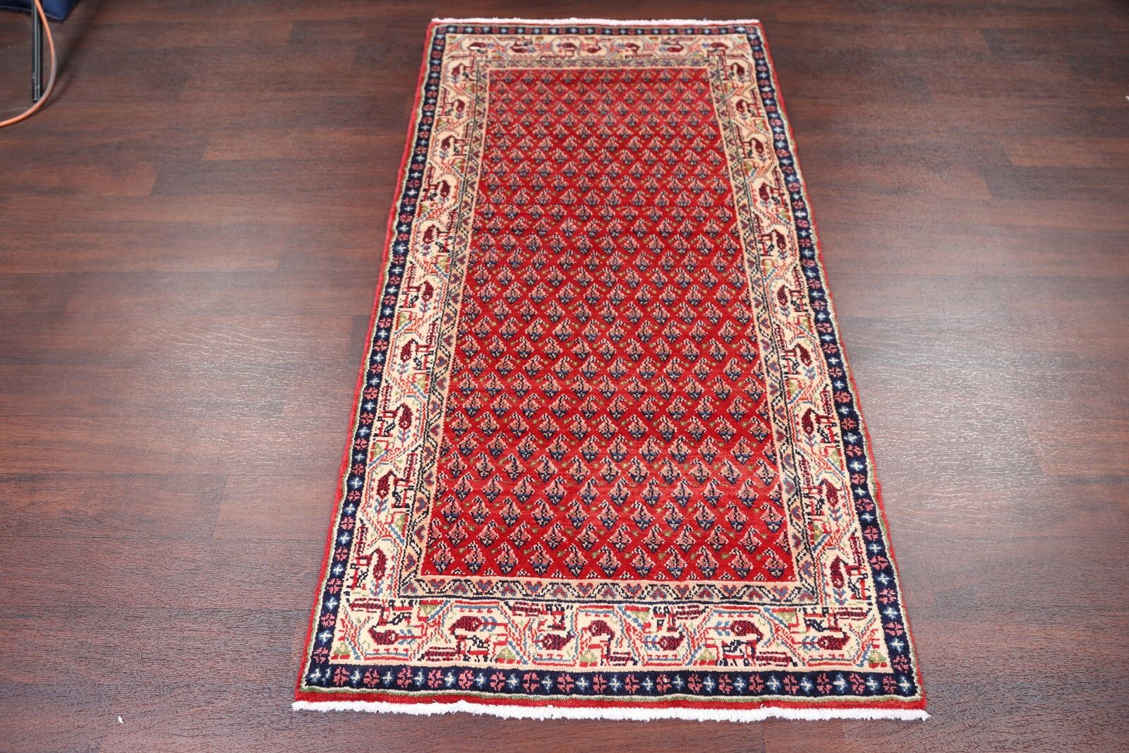 One-of-a-Kind Botemir Persian Hand-Knotted 3'2