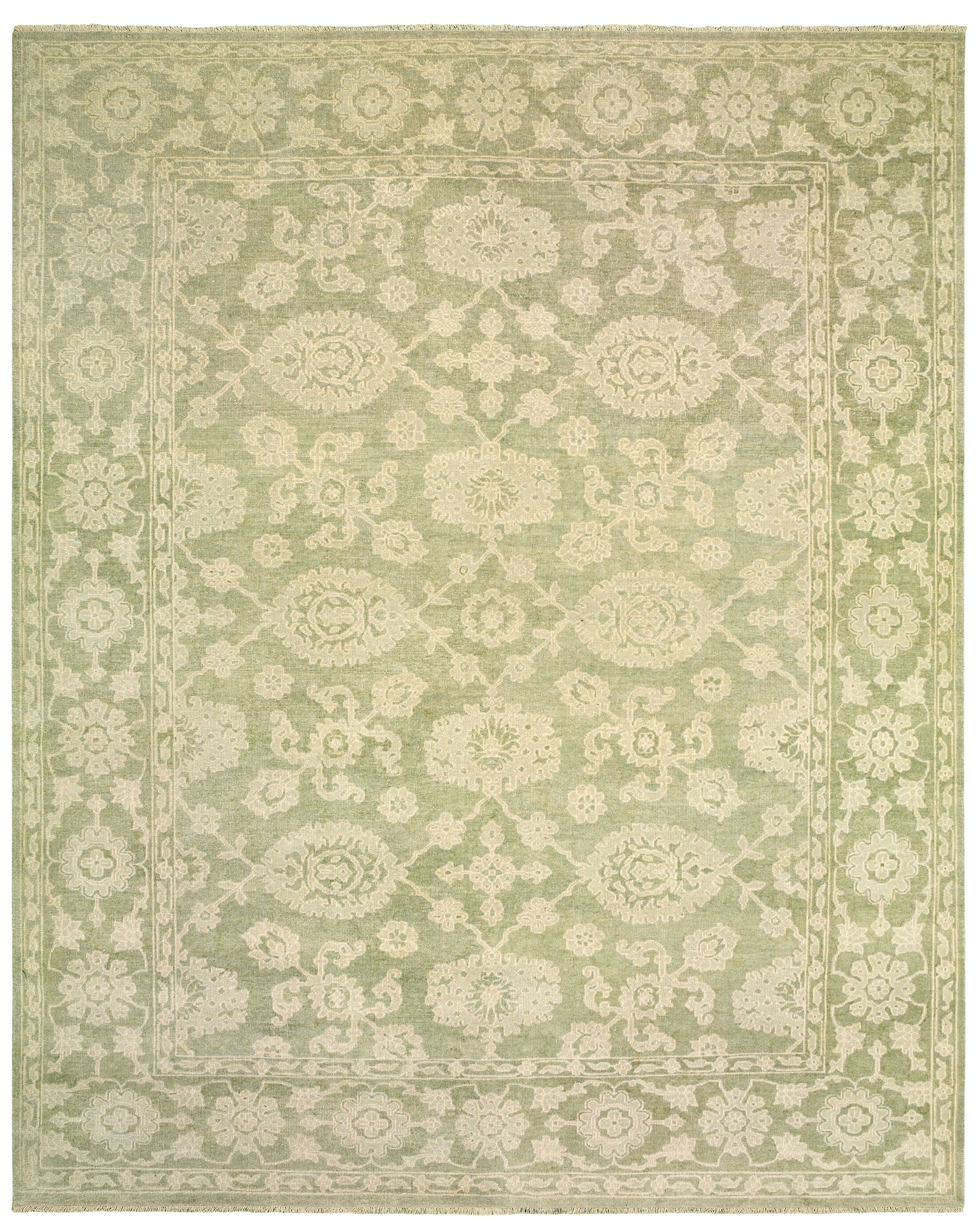 Robinson Hand-Knotted Wool Light Green Area Rug