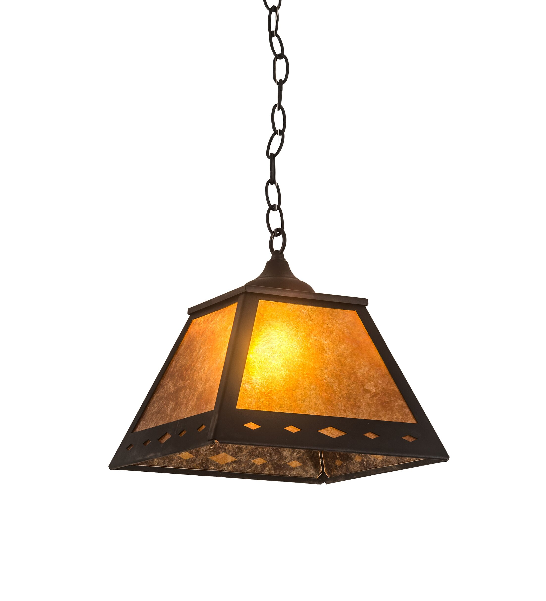 Fairgrove Diamond Prime 1-Light Mini Pendant