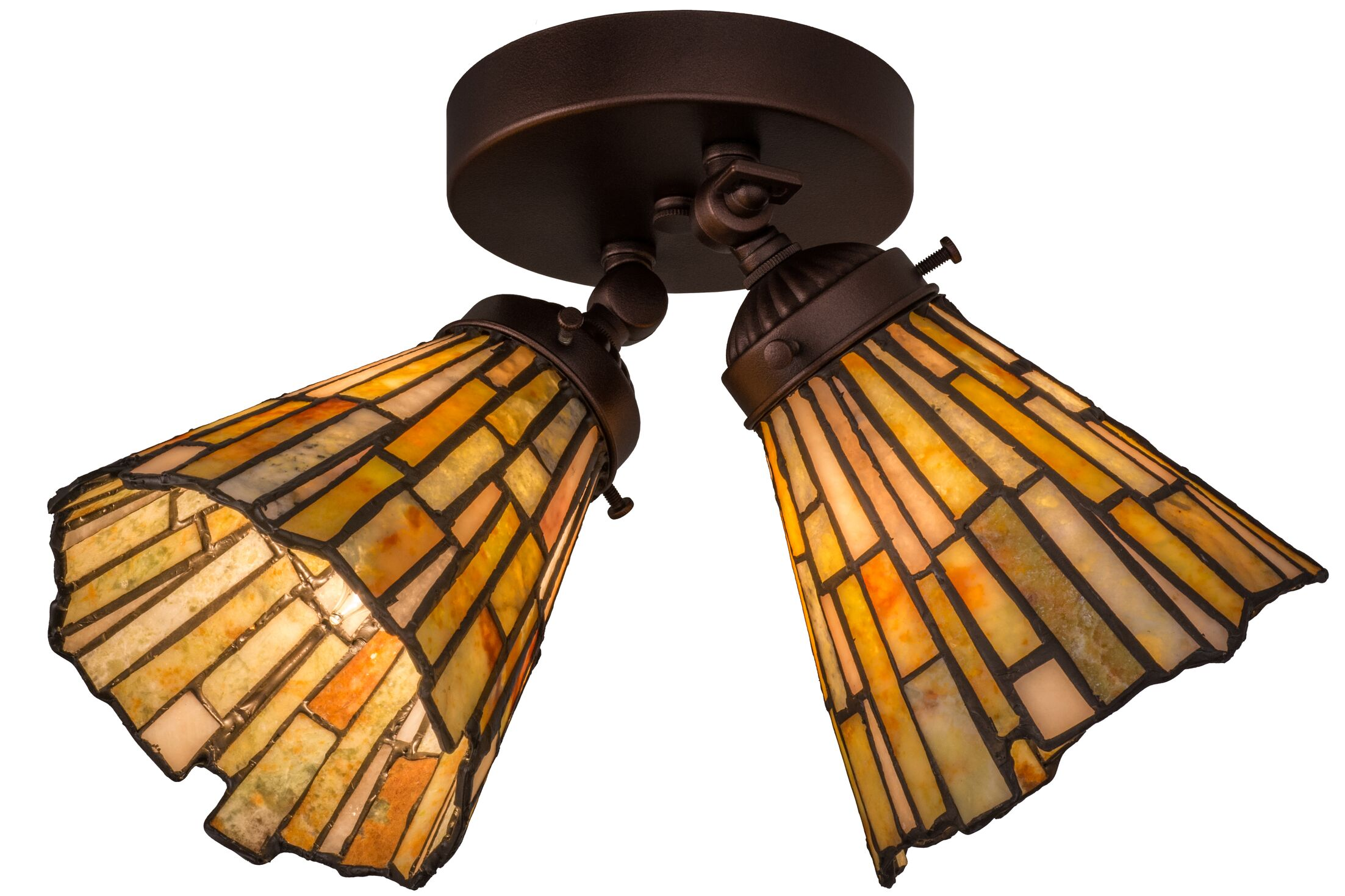 Weissman 2-Light Semi Flush Mount