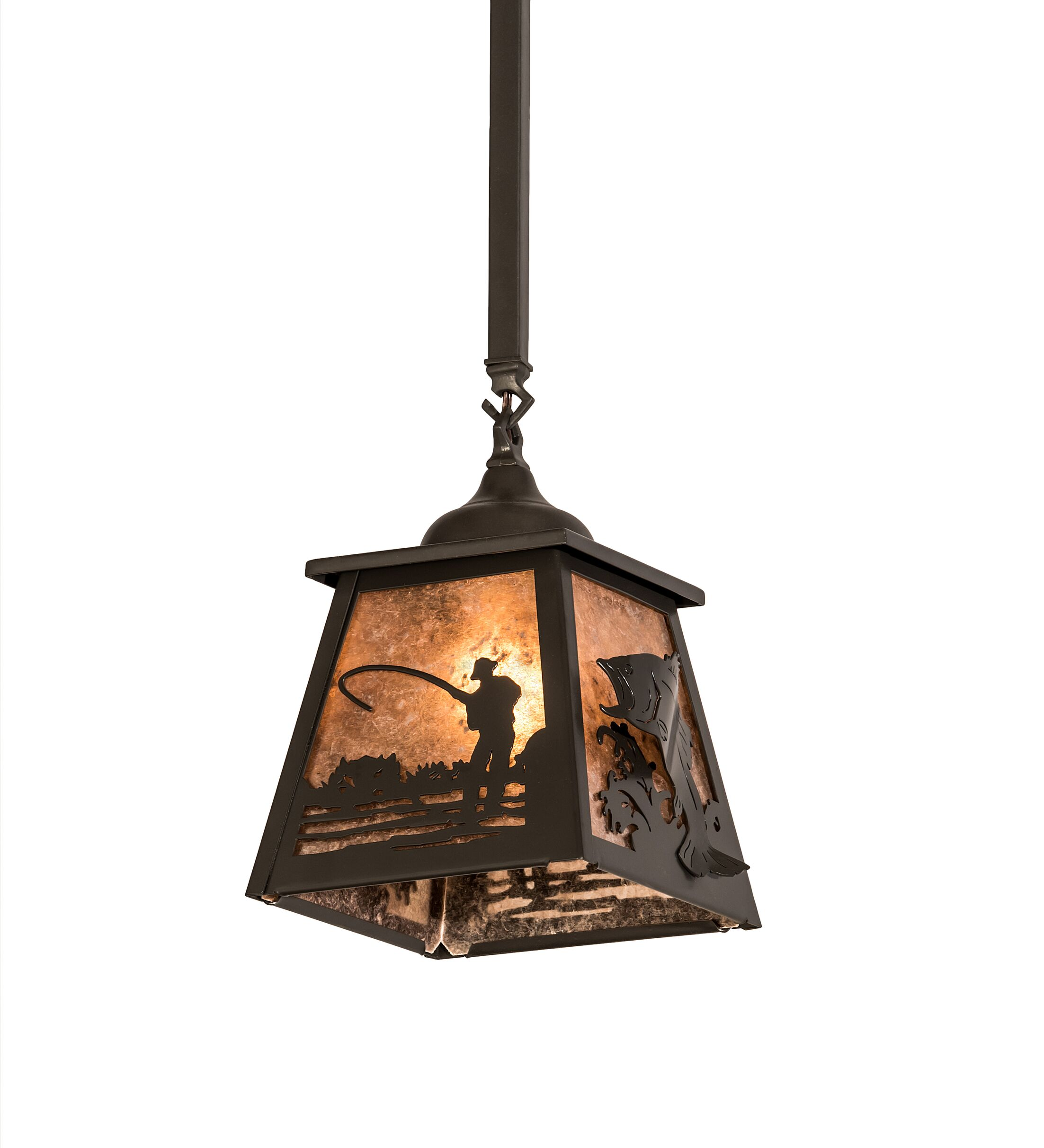 Eustice Fly Fishing 1-Light Mini Pendant