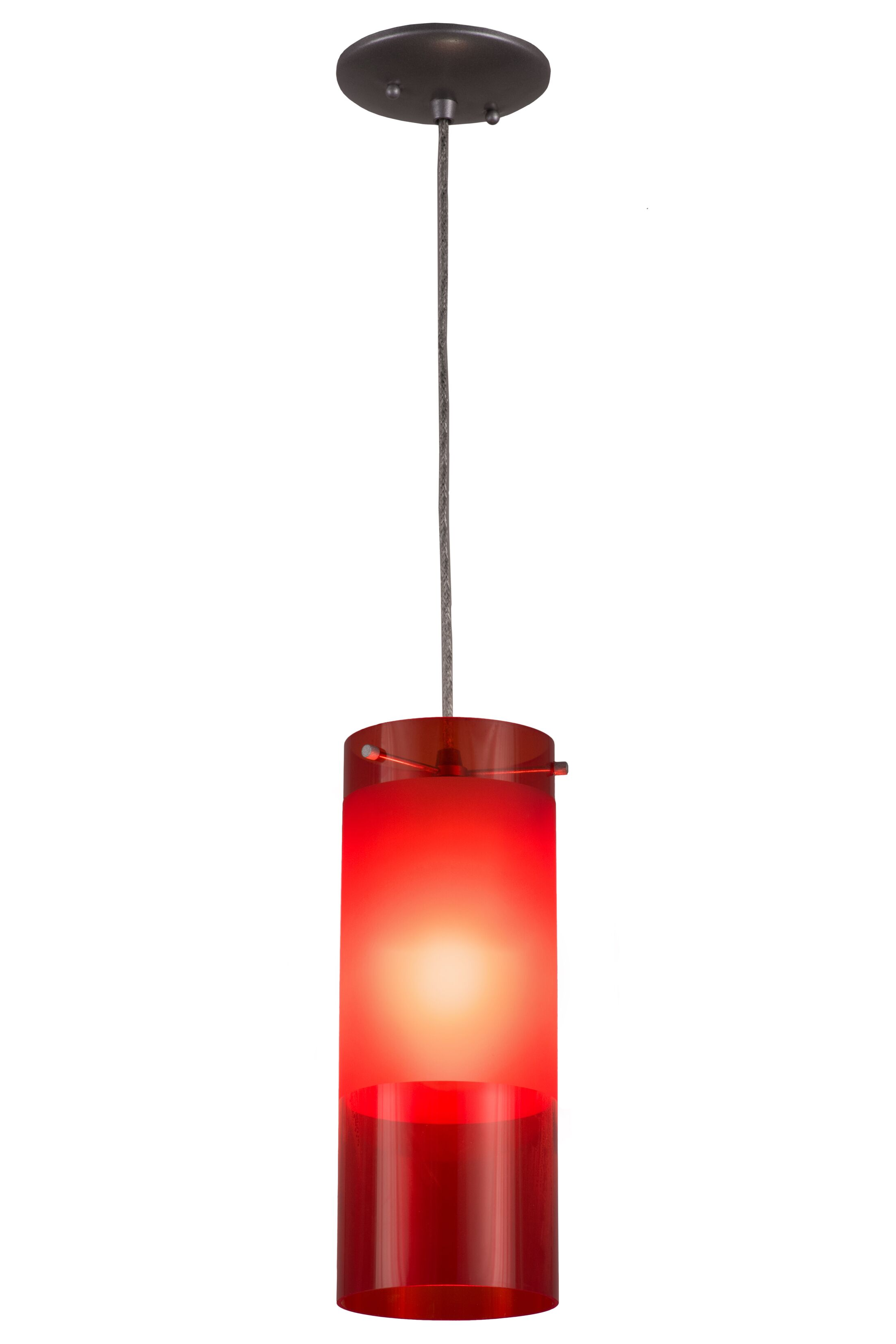 Filler 1-Light Mini Pendant Shade Color: Red
