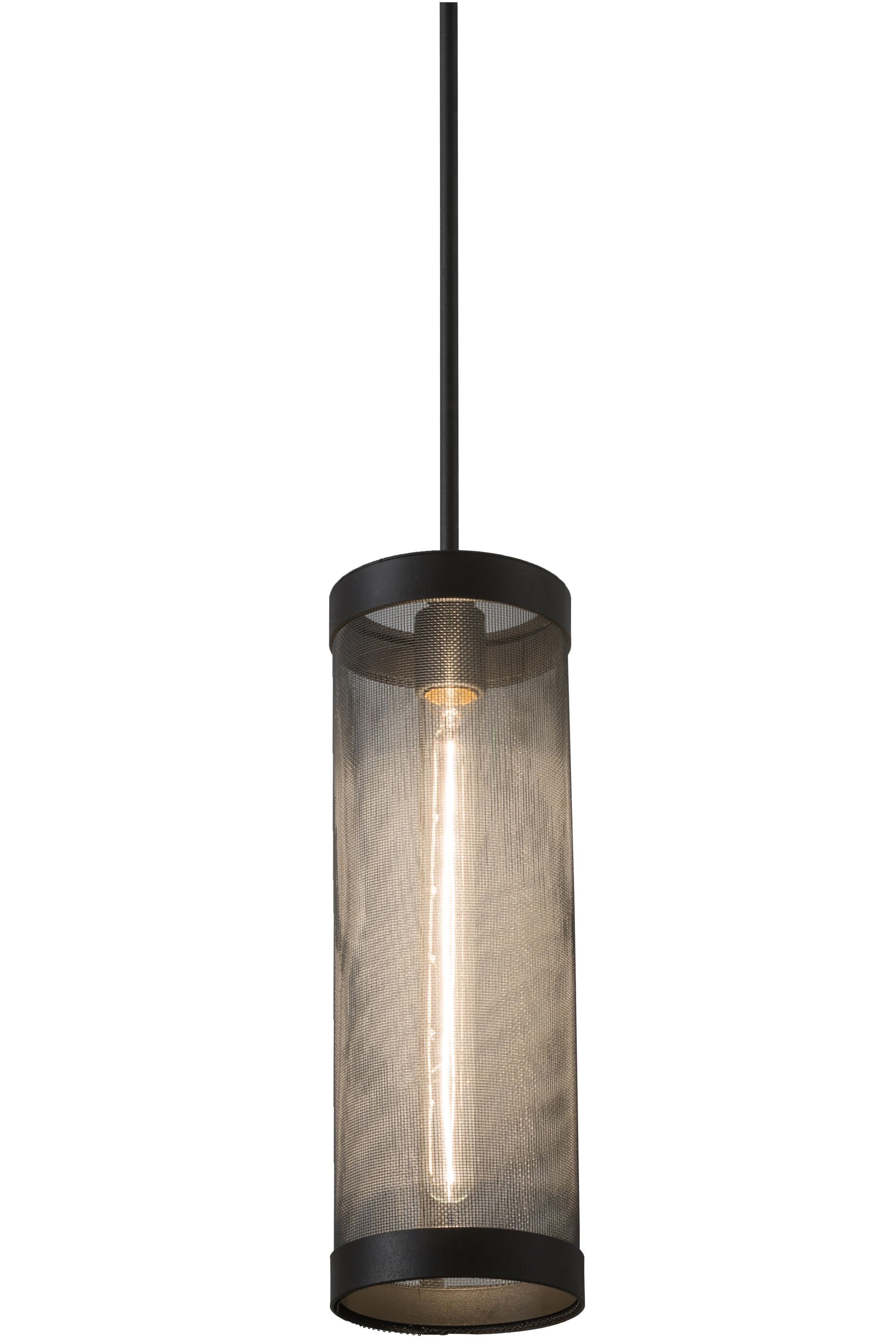 Alpes Cage 9-Light Cylinder Pendant Size: 63