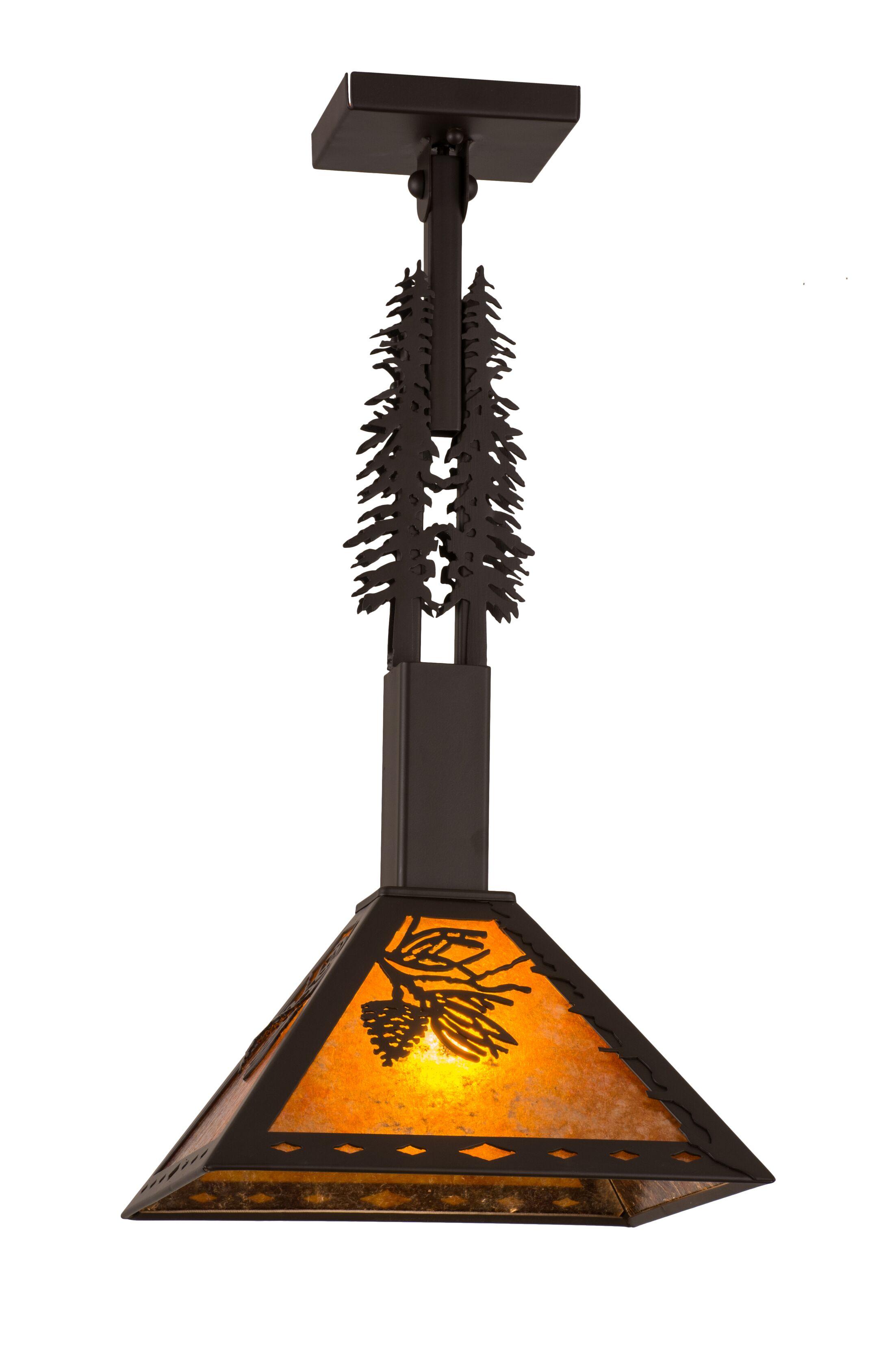 Fansler Winter Tall Pines 1-Light Mini Pendant