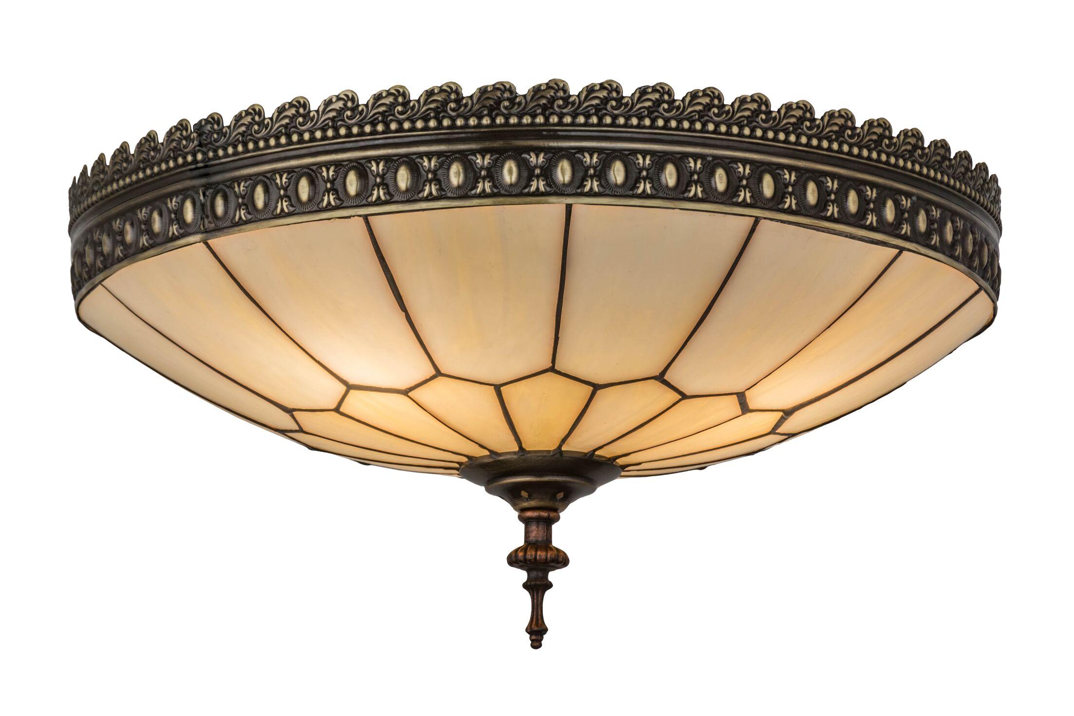 Norsworthy Honeycomb 3-Light Flush Mount Size: 6.5