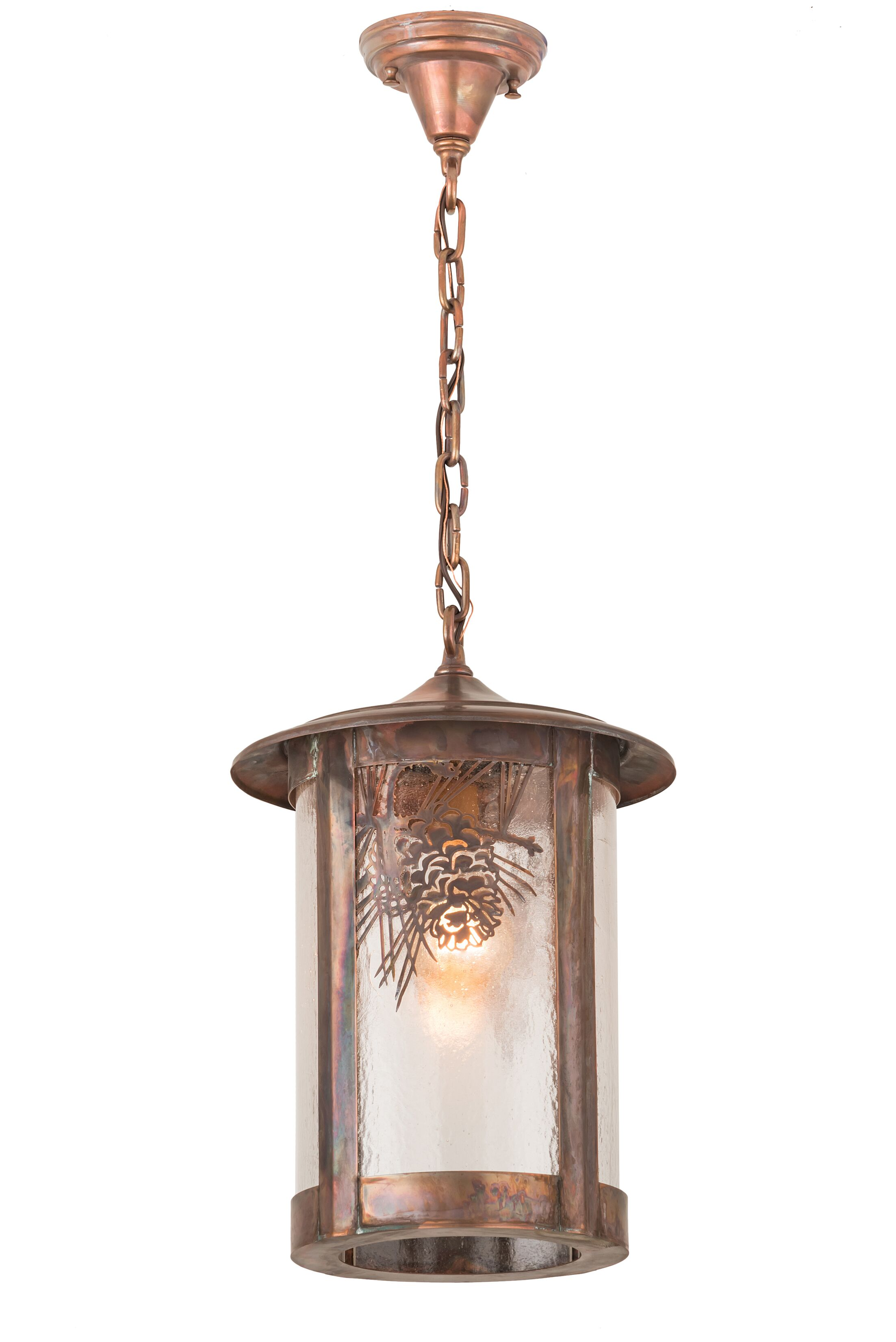 Etonbury Winter Pine 1-Light Mini Pendant Finish: Copper