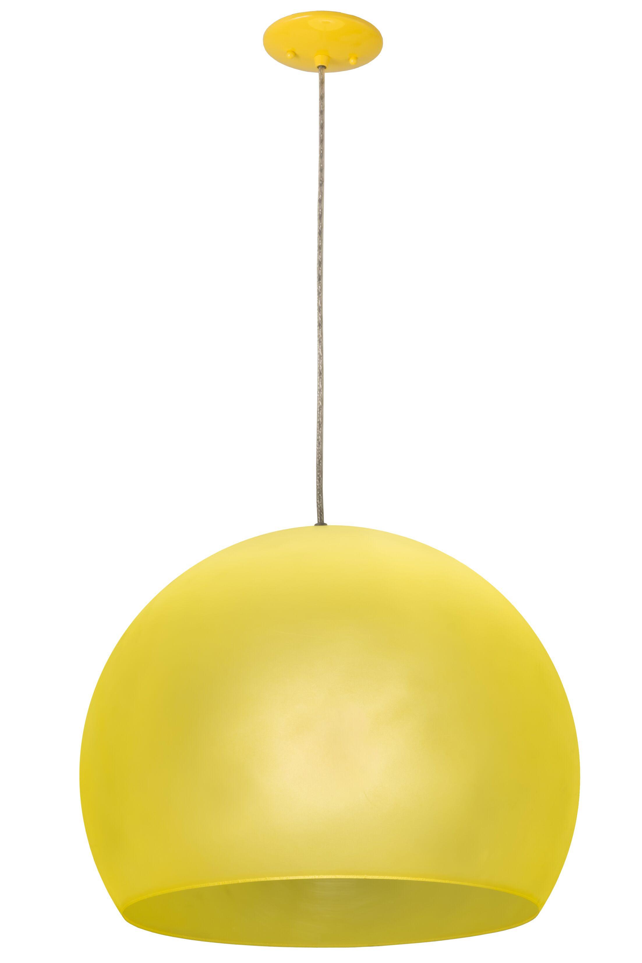 Fincastle 1-Light Novelty Pendant Finish: Yellow