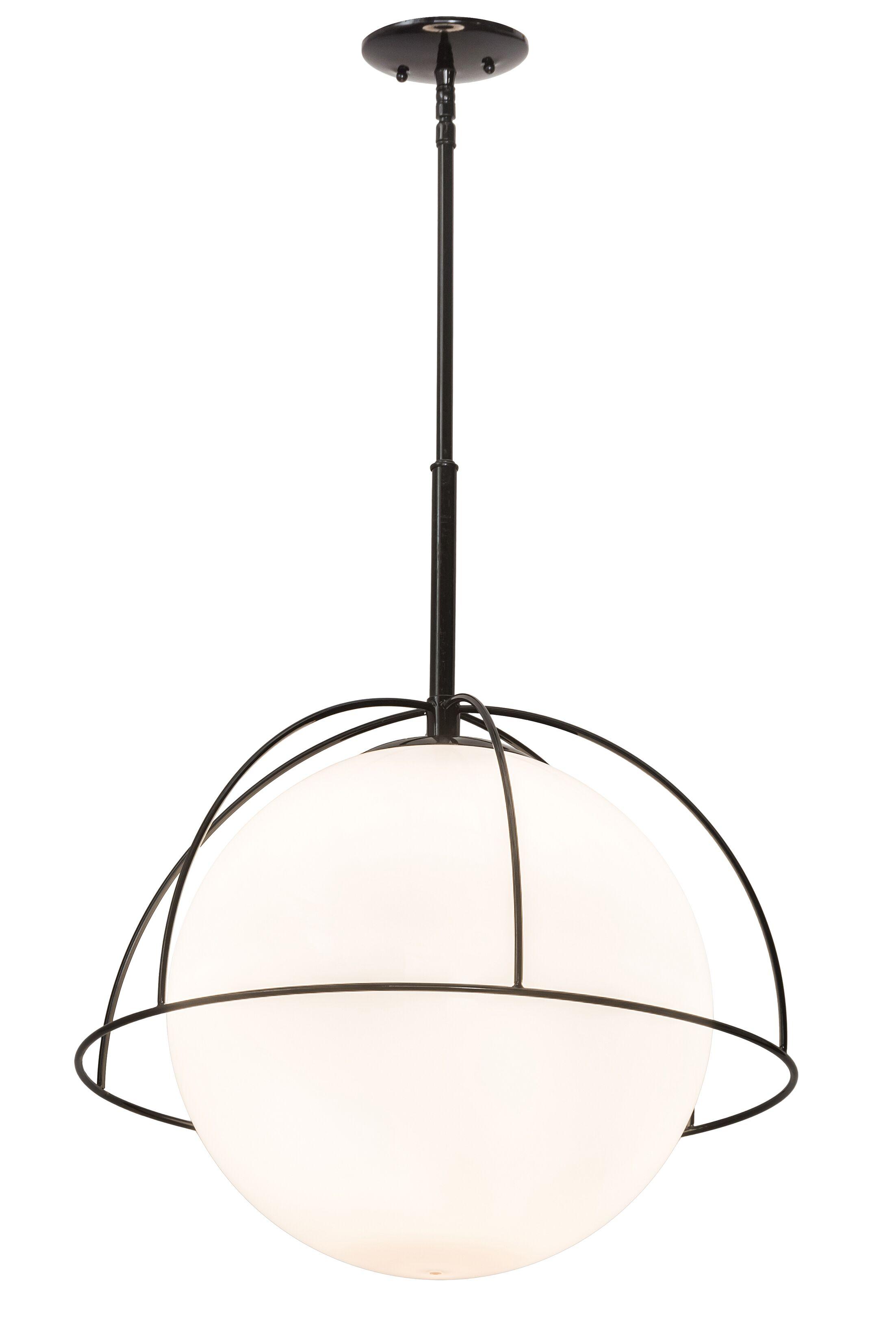 Crosswhite 1-Light Globe Pendant