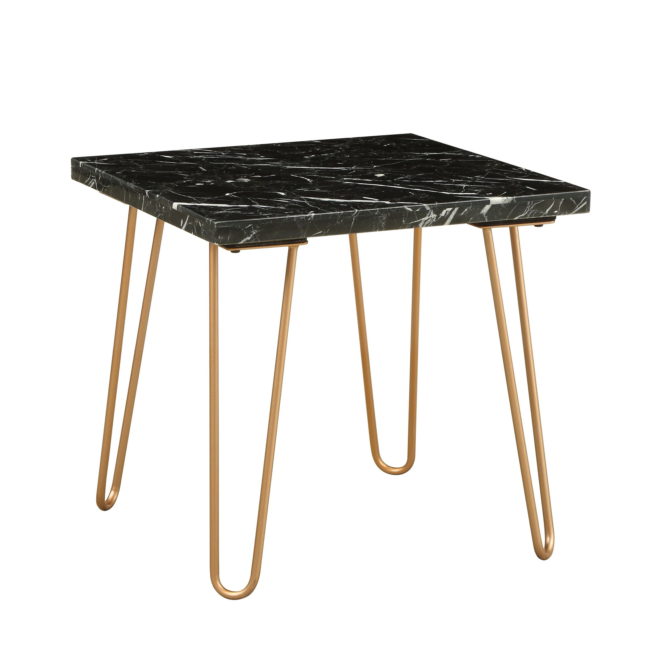 Canyonville End Table Color: Black