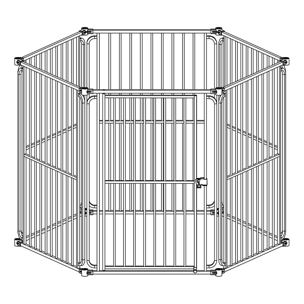 Heavy Duty Modular Dog Pen Size: 42