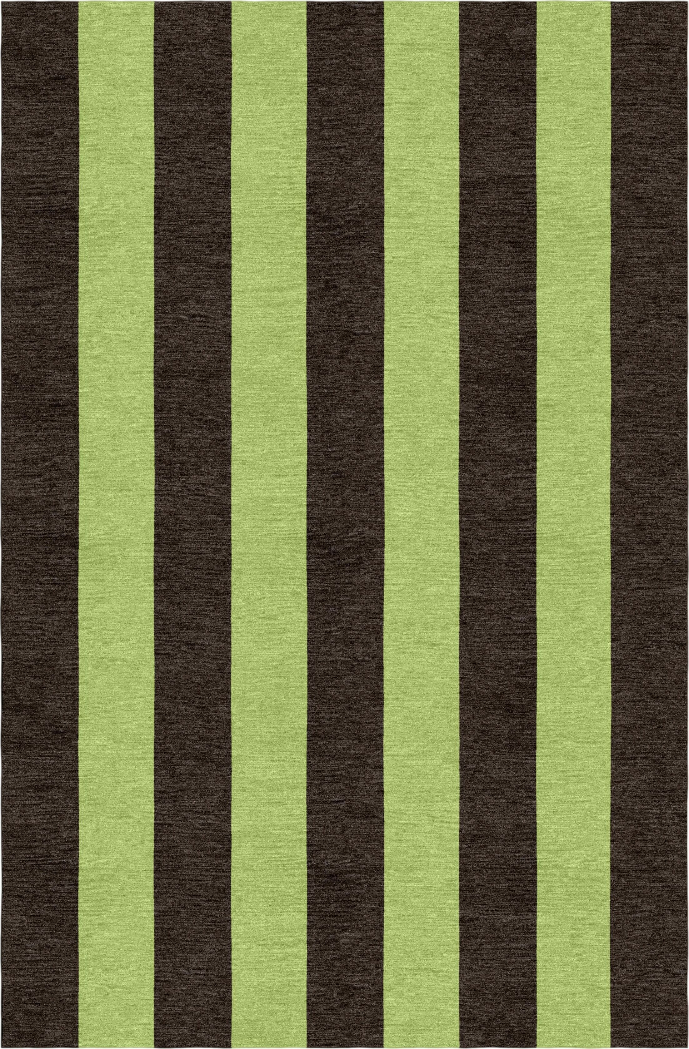 Lefker Stripe Hand-Woven Wool Brown/Green Area Rug Rug Size: Rectangle 5' x 8'