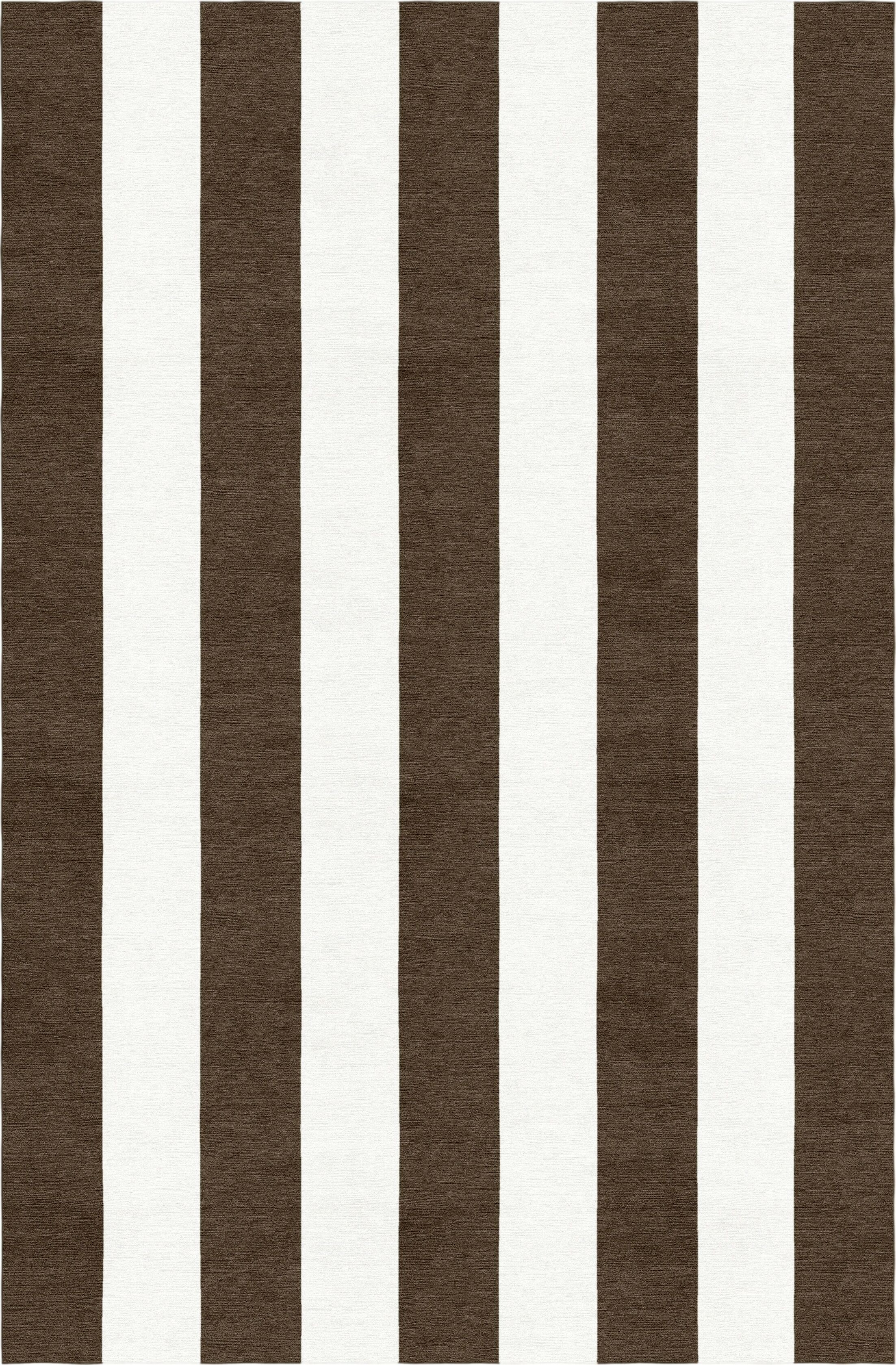 Mackelprang Stripe Hand-Woven Wool Brown/White Area Rug Rug Size: Rectangle 6' x 9'