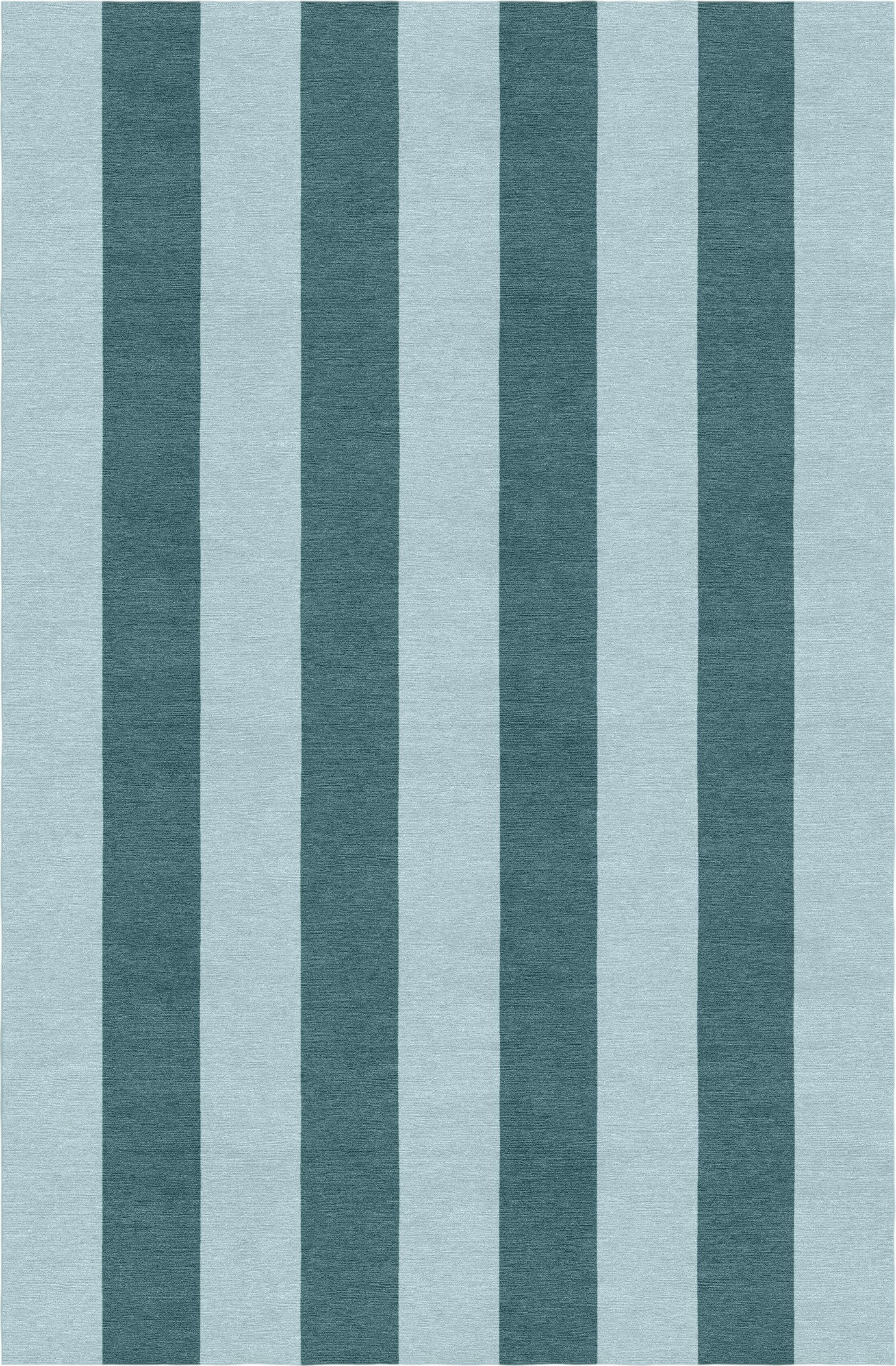 Waterman Stripe Hand-Woven Wool Light Blue/Gray Area Rug Rug Size: Rectangle 6' x 9'