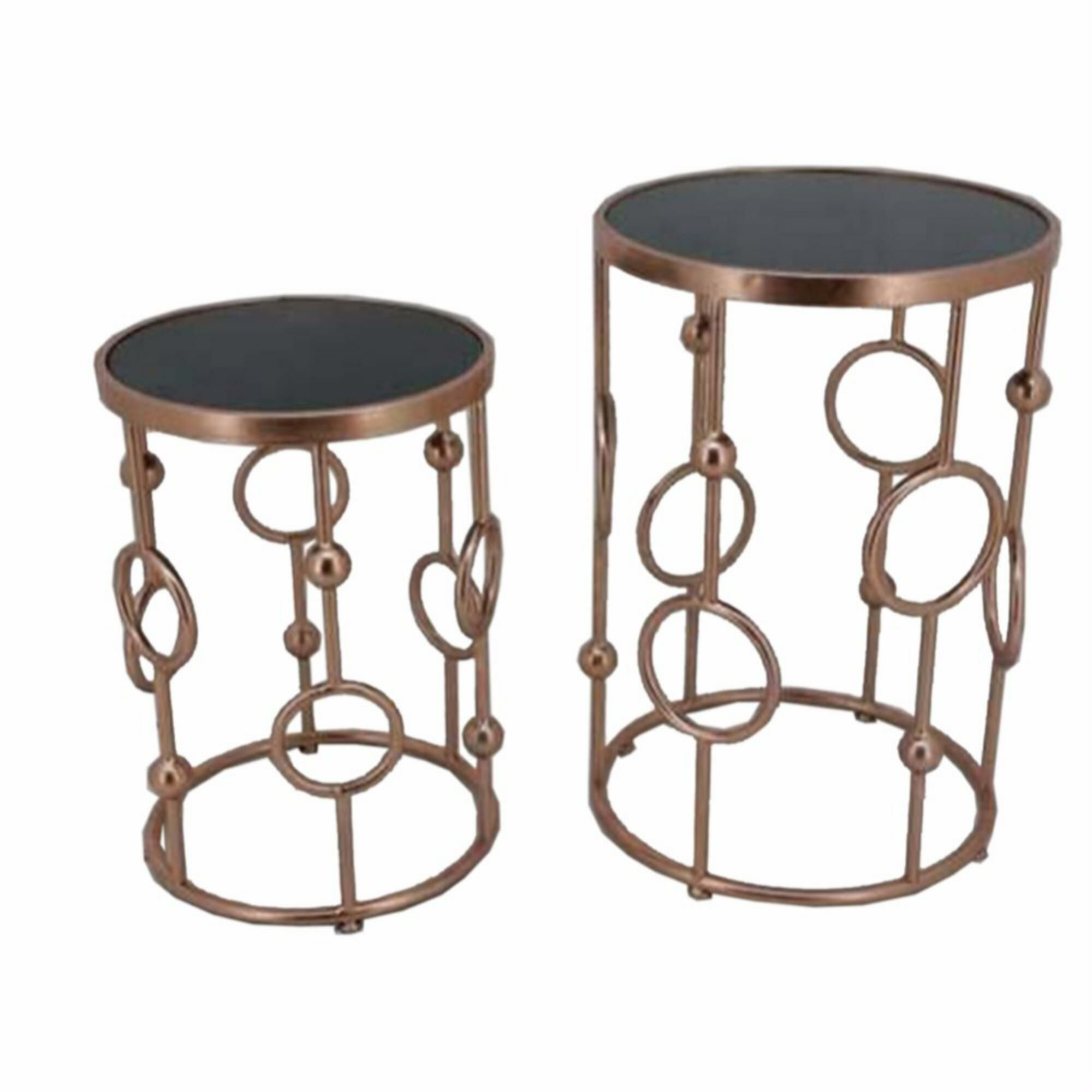 Frenette Metal 2 Piece Nesting Tables