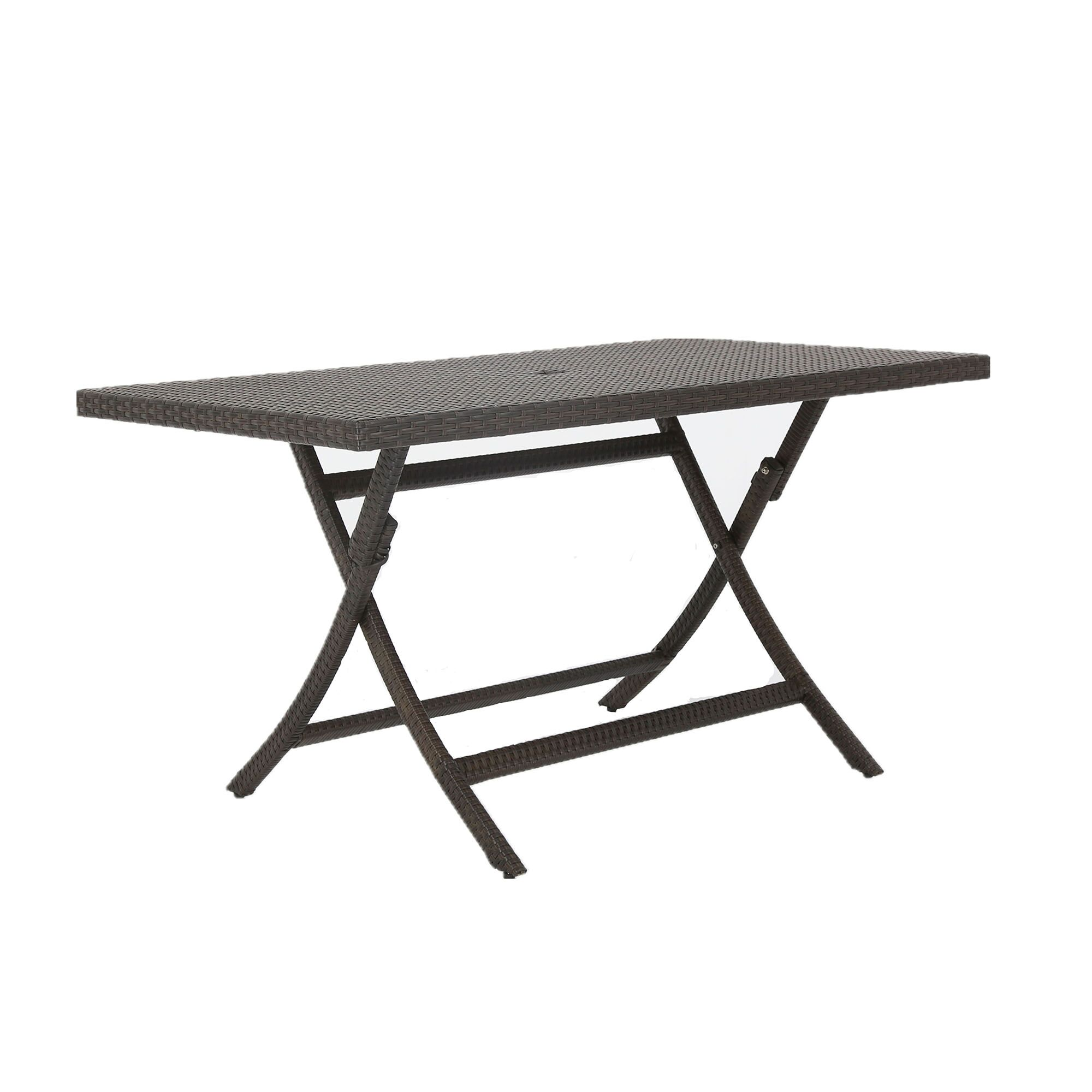 Kalb Extendable Wicker Dining Table