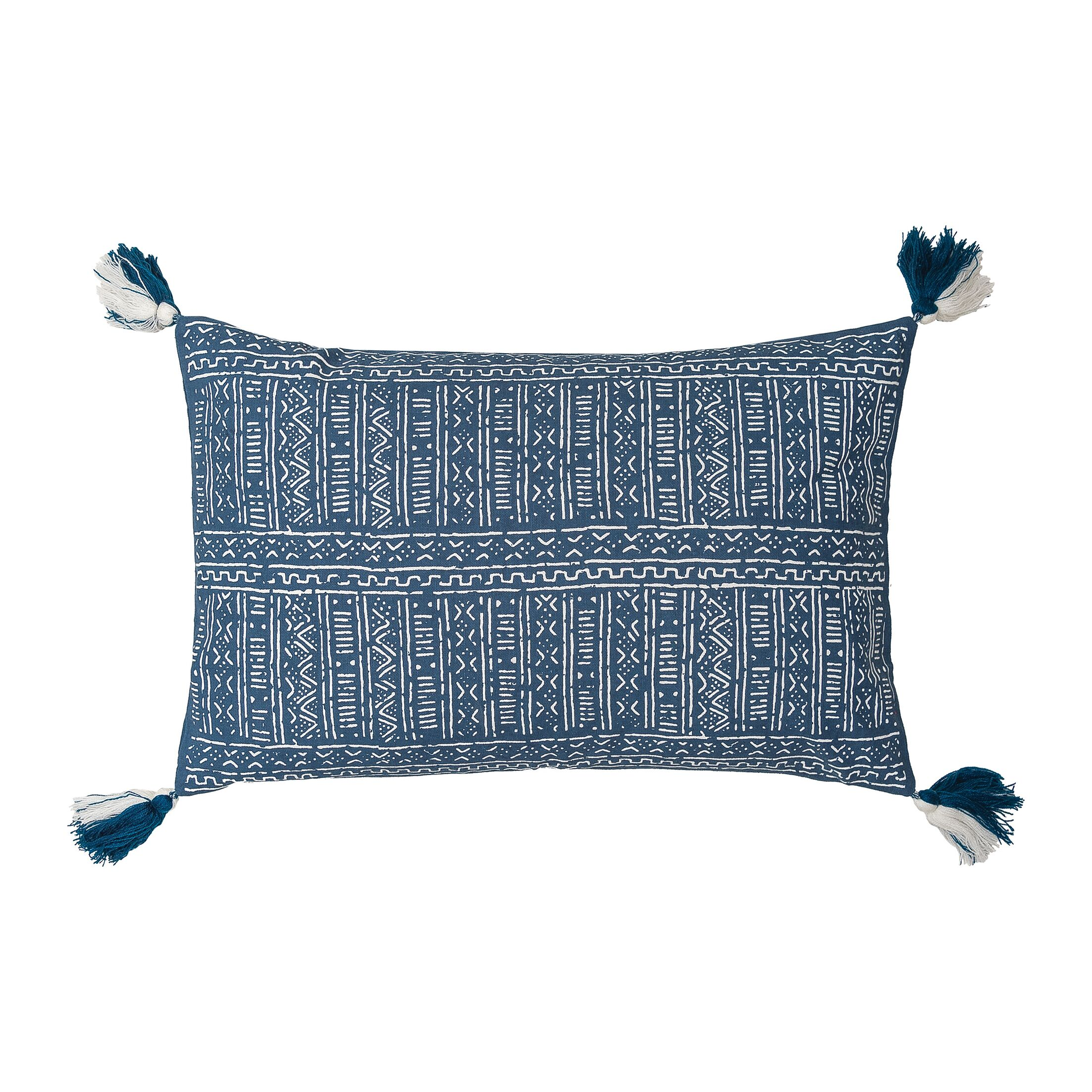 Cyrus Cotton Lumbar Pillow Color: Indigo