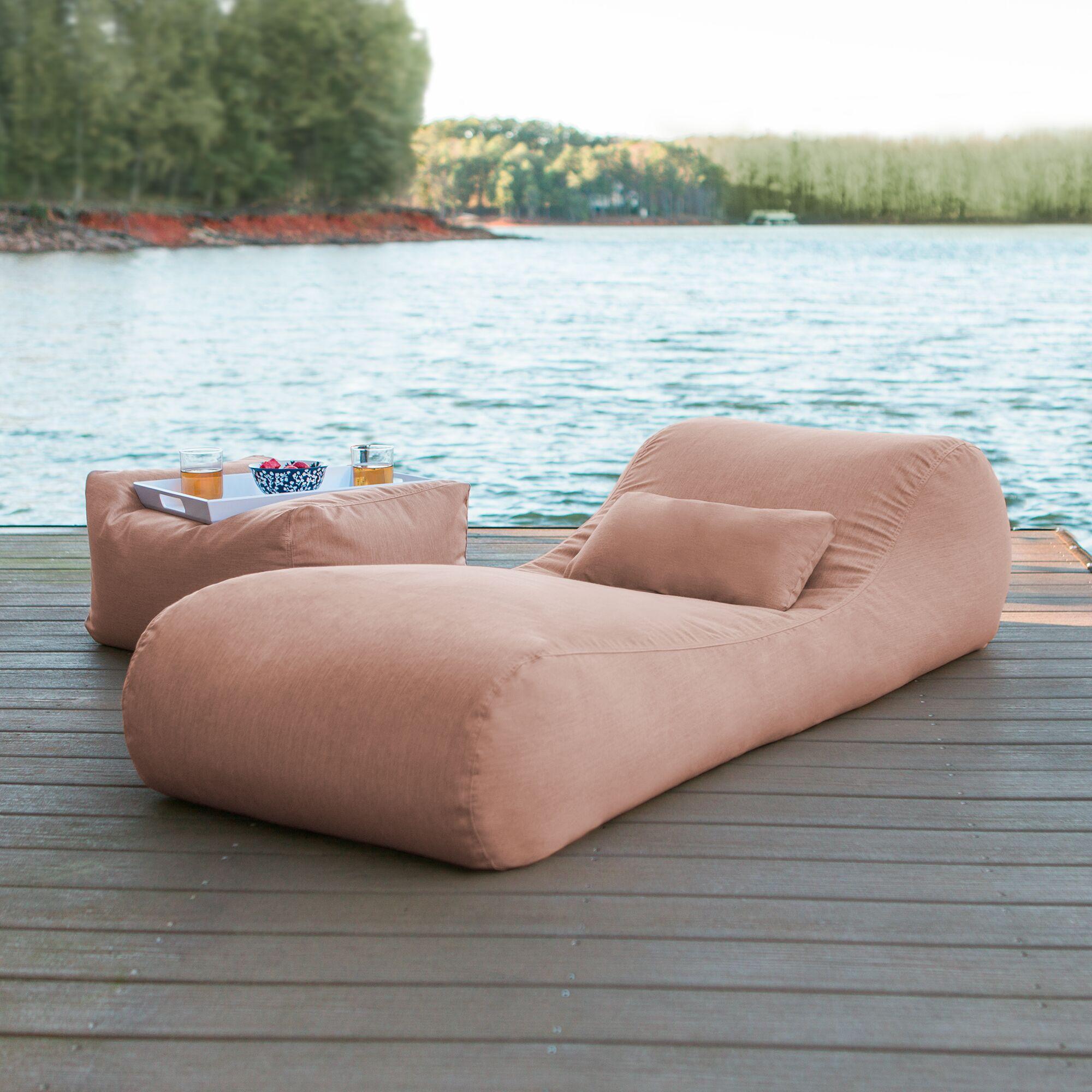 Daisha Outdoor Bag Sun Chaise Lounge Color: Petal