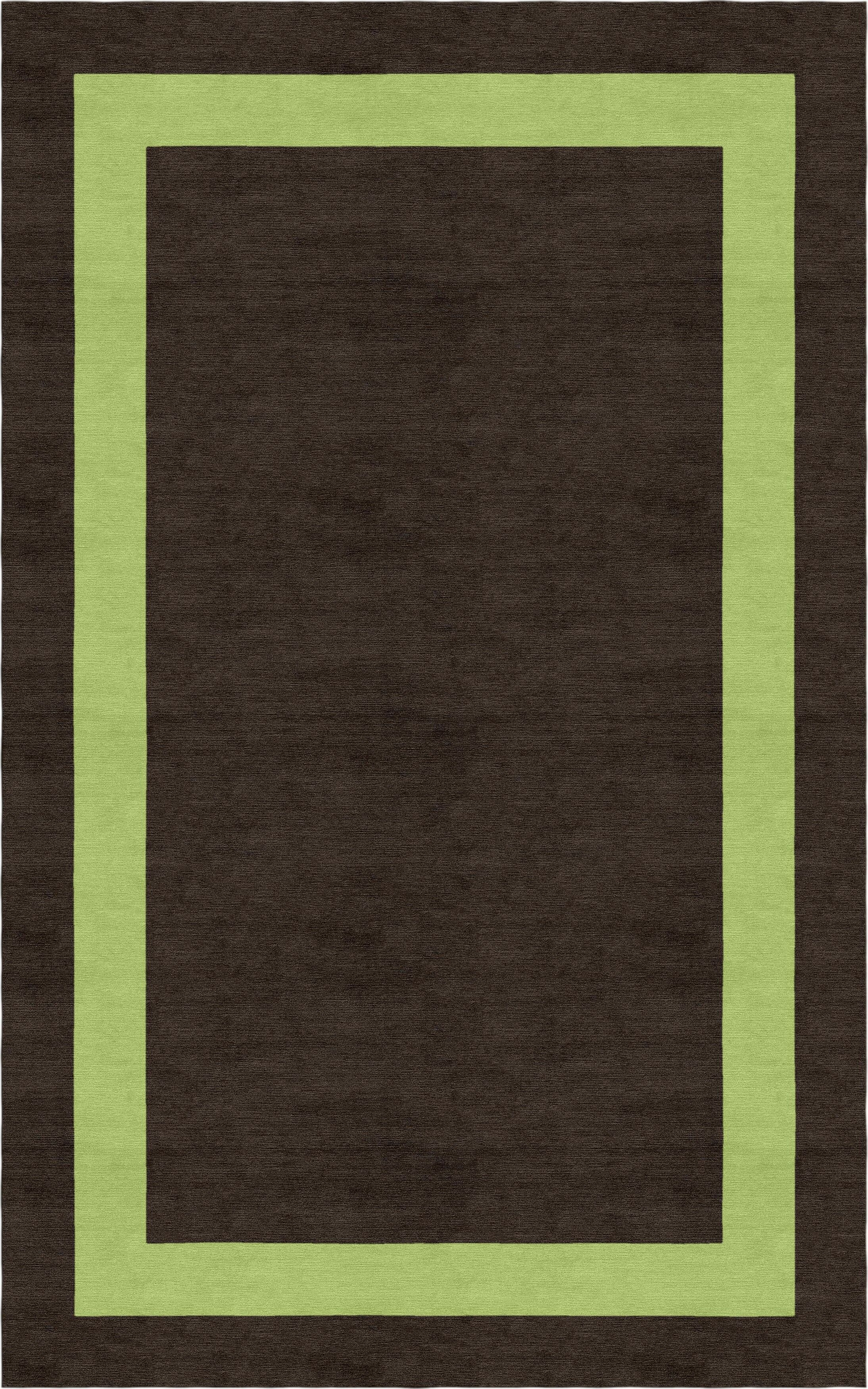 Sooriyakumar Border Hand-Tufted Wool Brown/Green Area Rug Rug Size: Rectangle 8' x 10'
