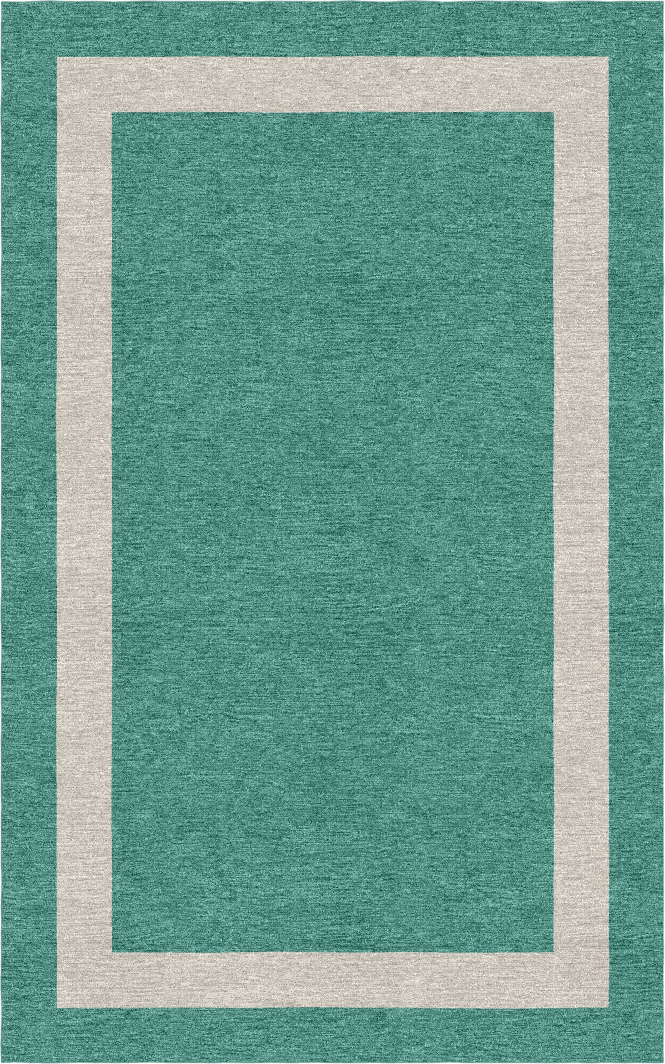 Misdalski Border Hand-Tufted Wool Teal/Silver Area Rug Rug Size: Rectangle 5' x 8'
