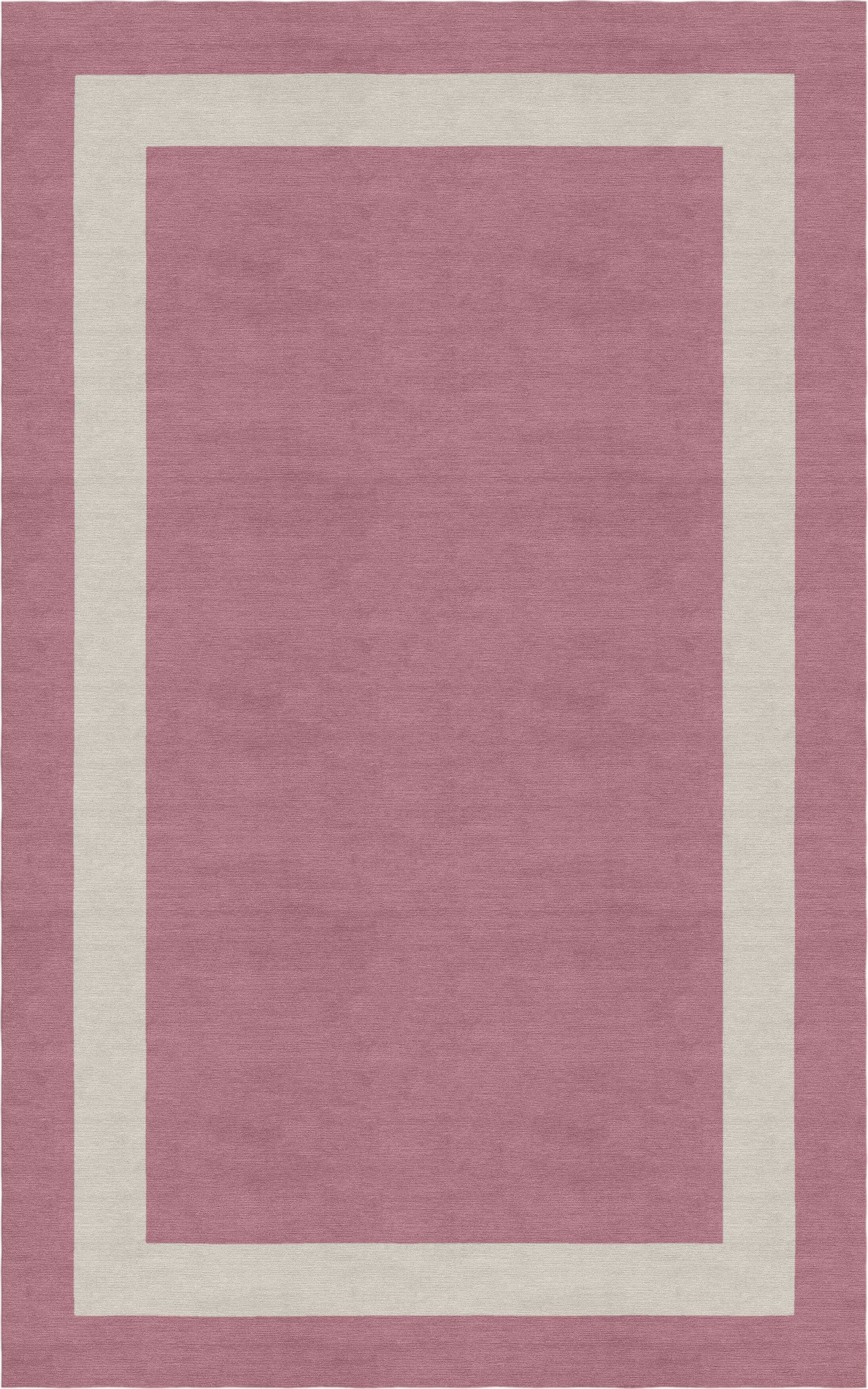 Hewins Border Hand-Tufted Wool Purple/Silver Area Rug Rug Size: Rectangle 9' x 12'