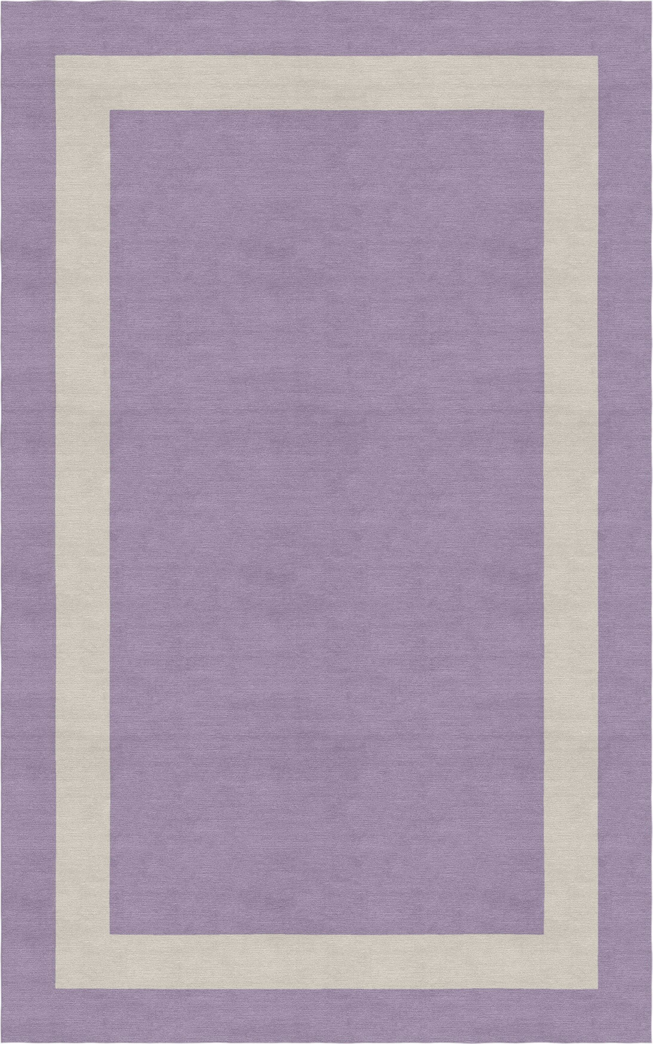 Zwolen Border Hand-Tufted Wool Violet/Silver Area Rug Rug Size: Rectangle 5' x 8'