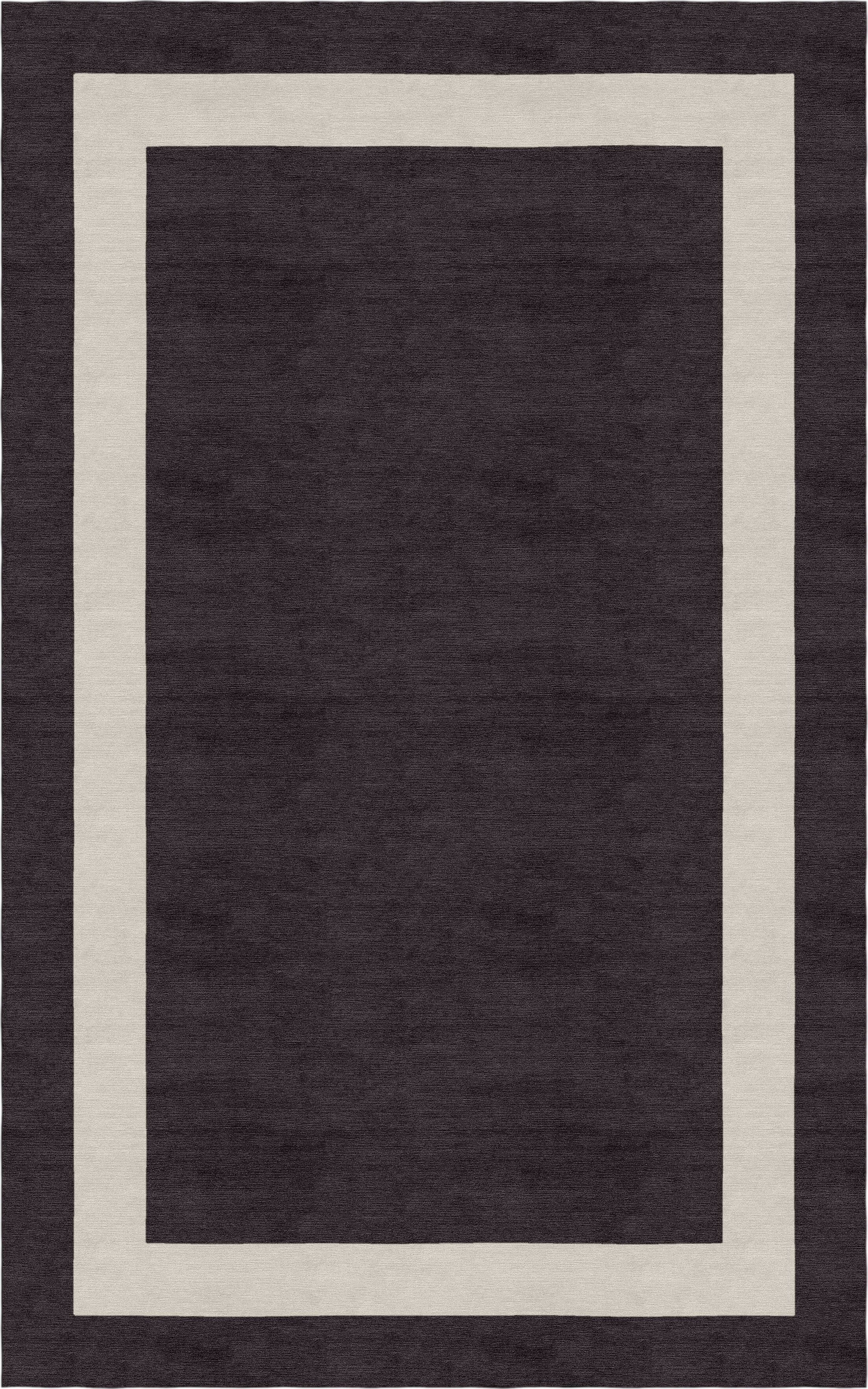 Dews Border Hand-Tufted Wool Silver/Charcoal Area Rug Rug Size: Rectangle 9' x 12'