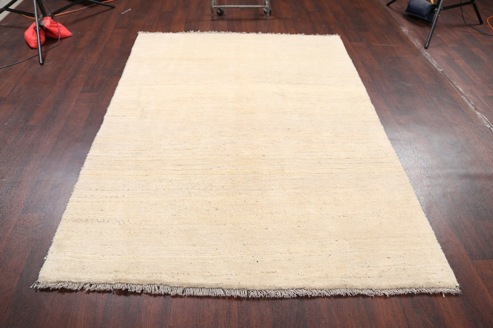 One-of-a-Kind Traditional Qashqai Gabbeh Shiraz Persian Hand-Knotted 5'6