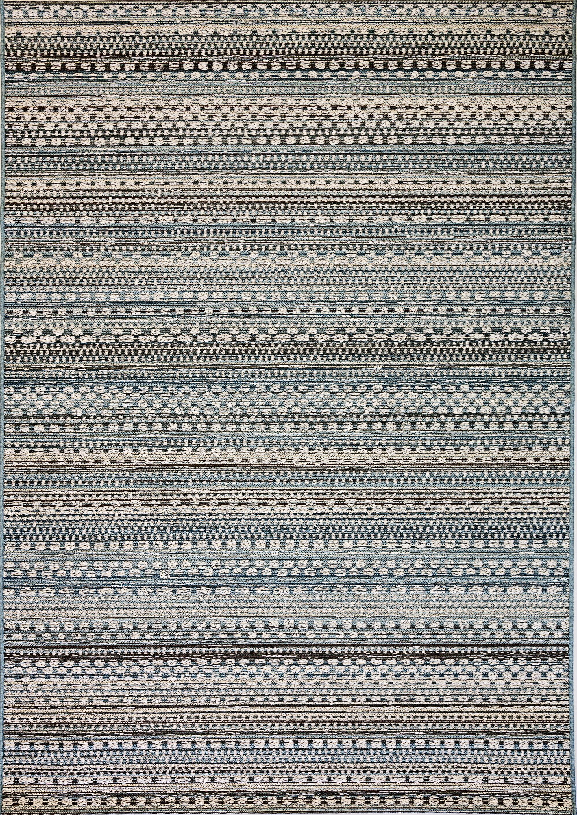 Pennock Beige/Blue Indoor/Outdoor Area Rug Rug Size: Rectangle 5'3